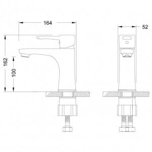 Смеситель Lemark Evitta LM0506C для раковины