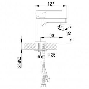 Смеситель Lemark Plus Grace LM1506C для раковины