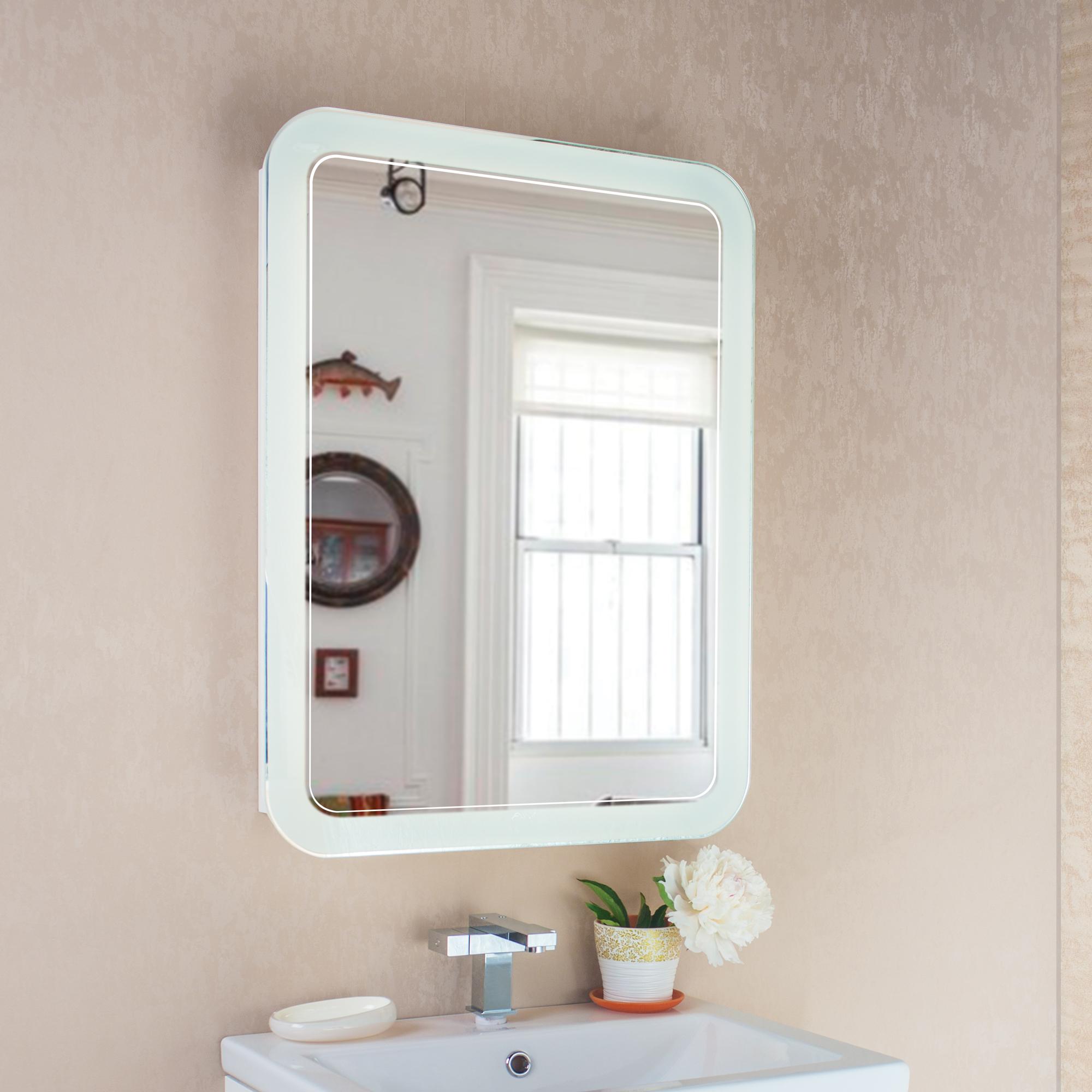 Шкаф зеркальный Vanda Lux 60 белый