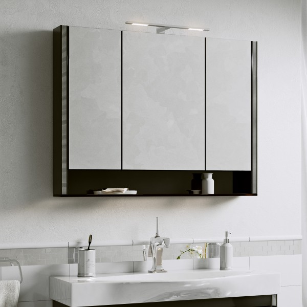 Шкаф зеркальный Layra 100 Черный Фантом