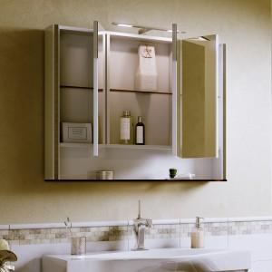 Шкаф зеркальный Layra 100 белый