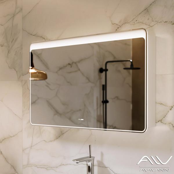 Зеркальный шкаф Laurel 100 белый