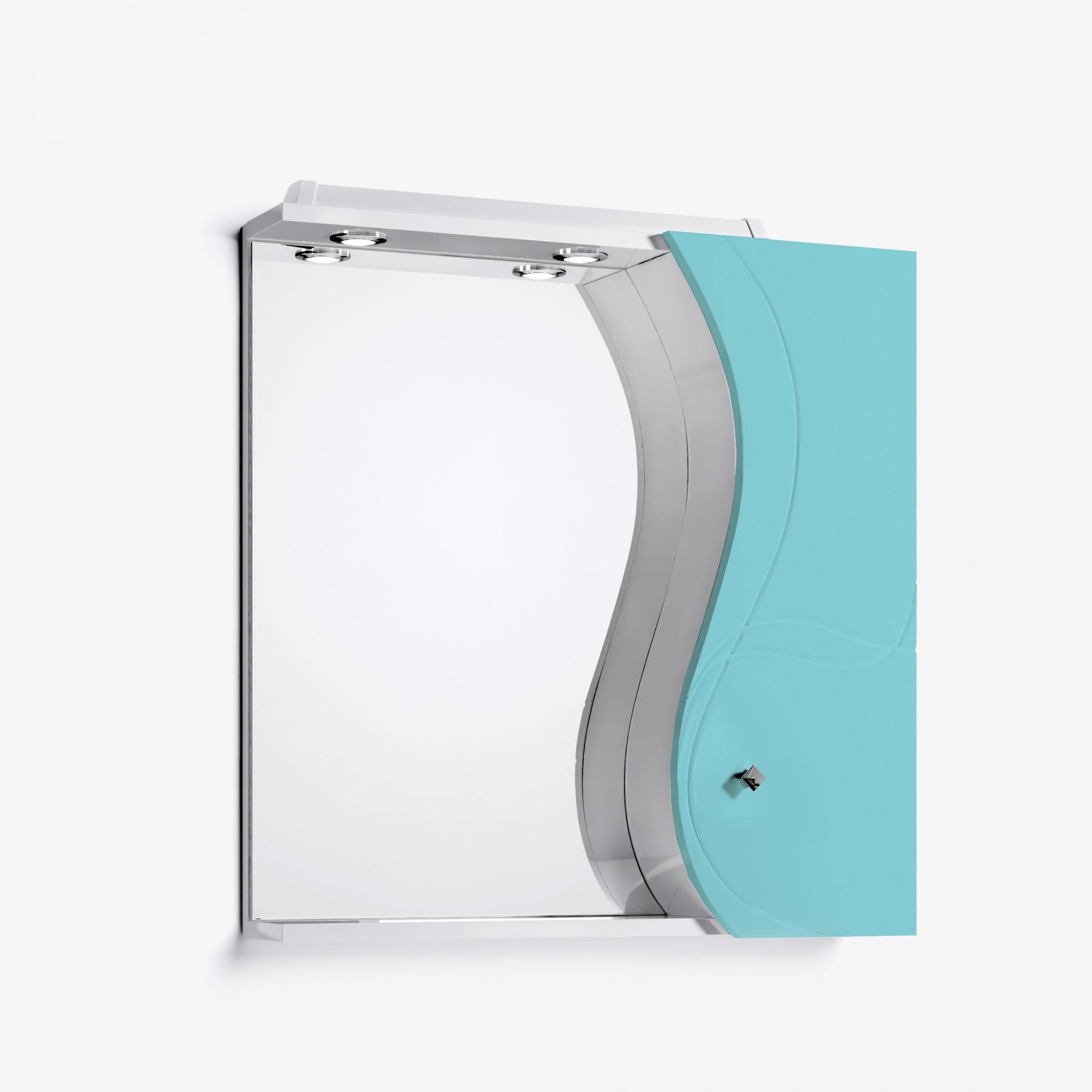 Зеркало-шкаф Катрин 75 бирюзовый