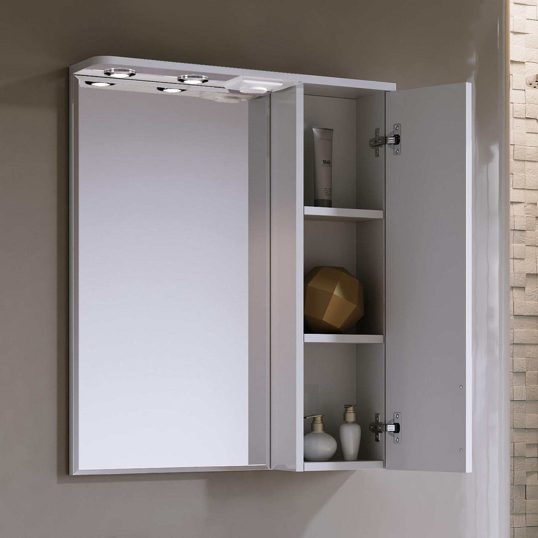 Зеркало-шкаф Vittoria 60/2 белый