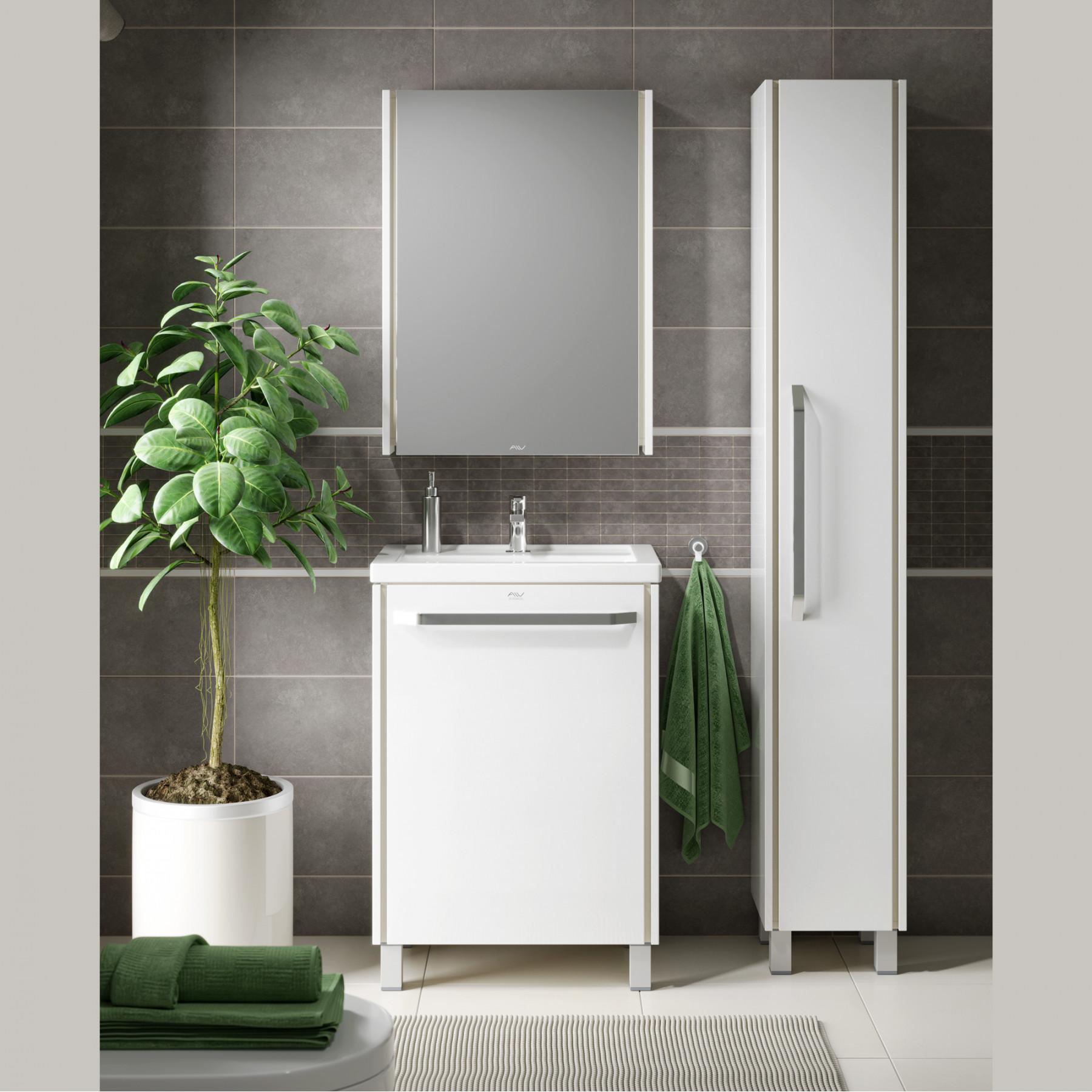 Зеркальный шкаф Riga 60 белый