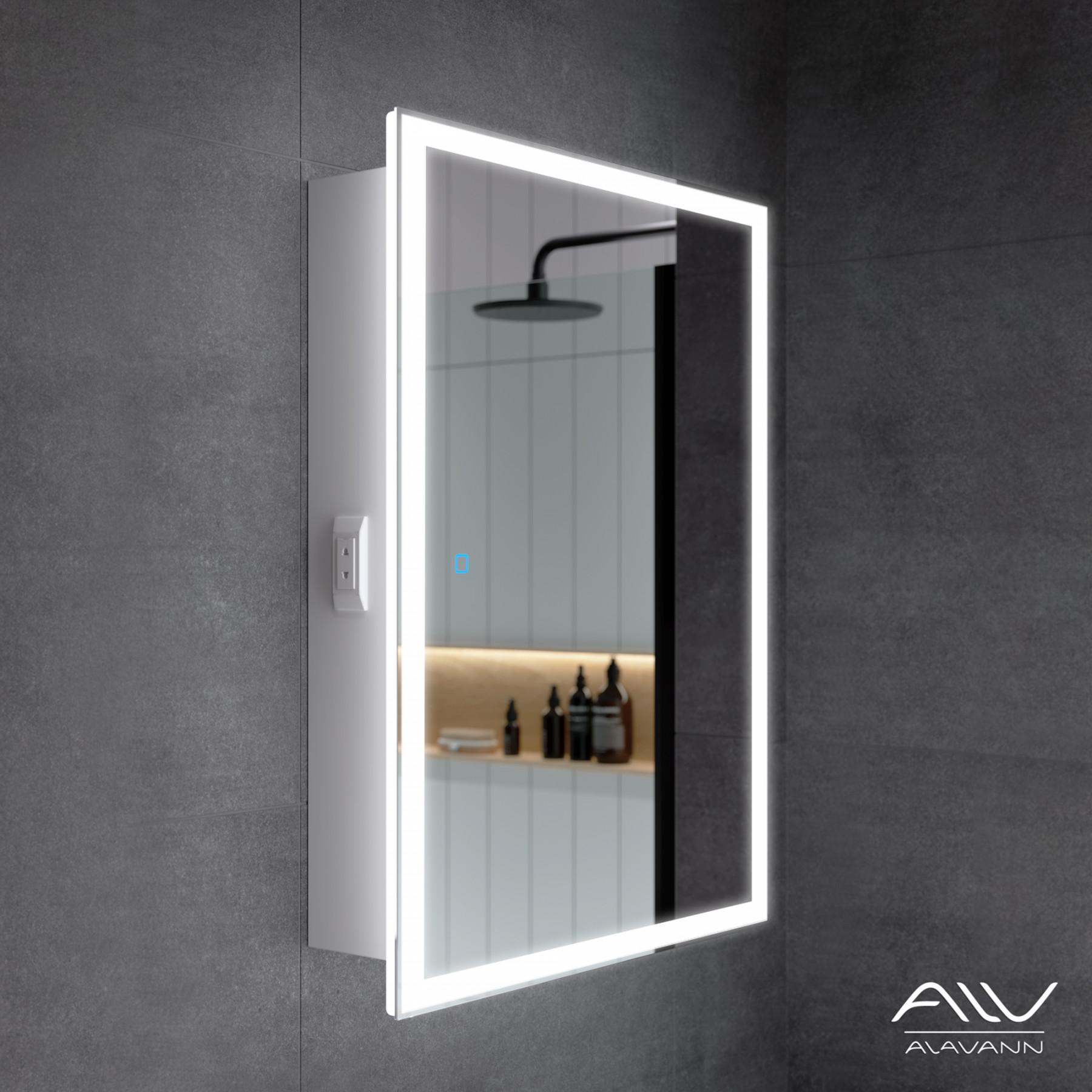 Шкаф зеркальный Rita 60 белый