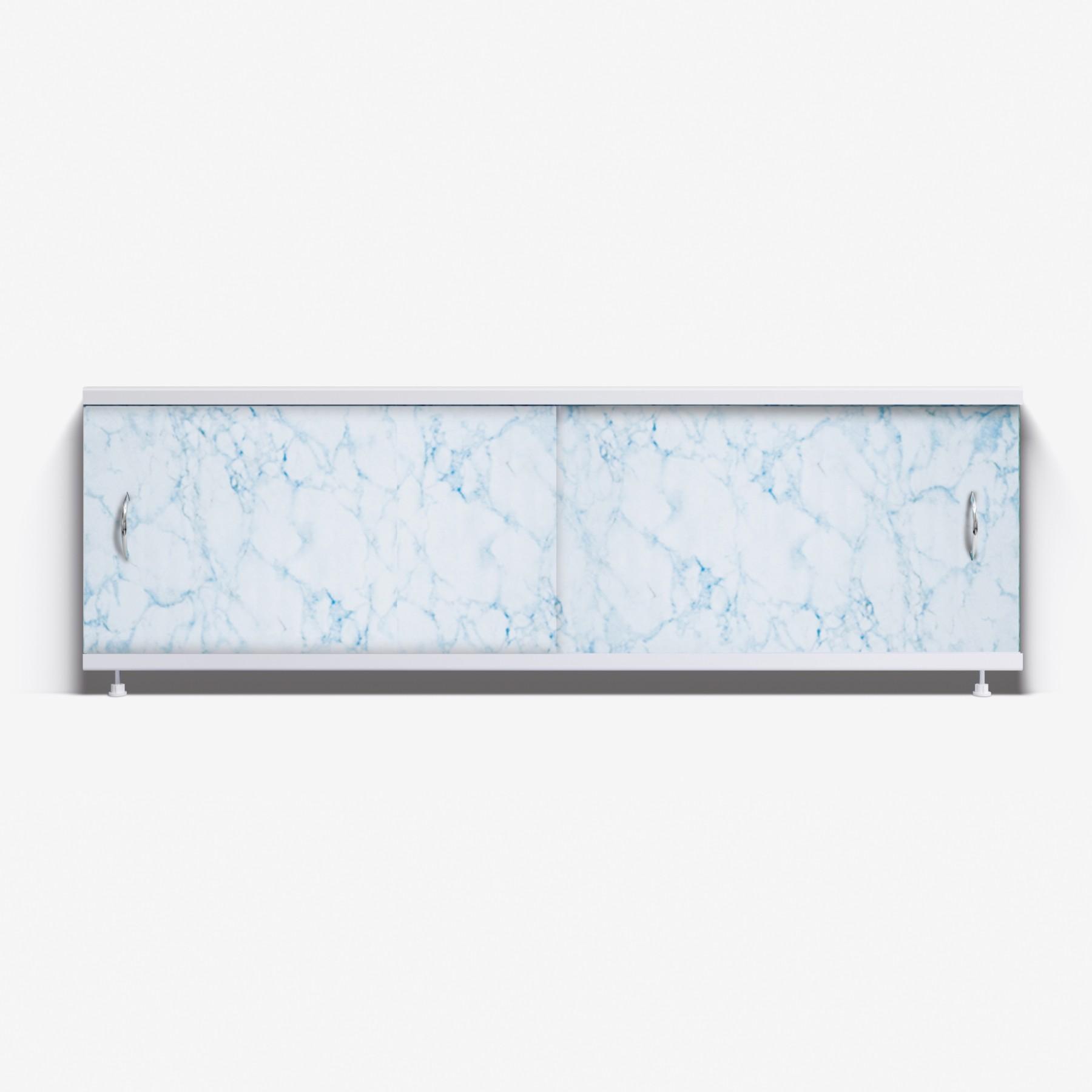 Экран под ванну Классик 150 бело-голубой мрамор