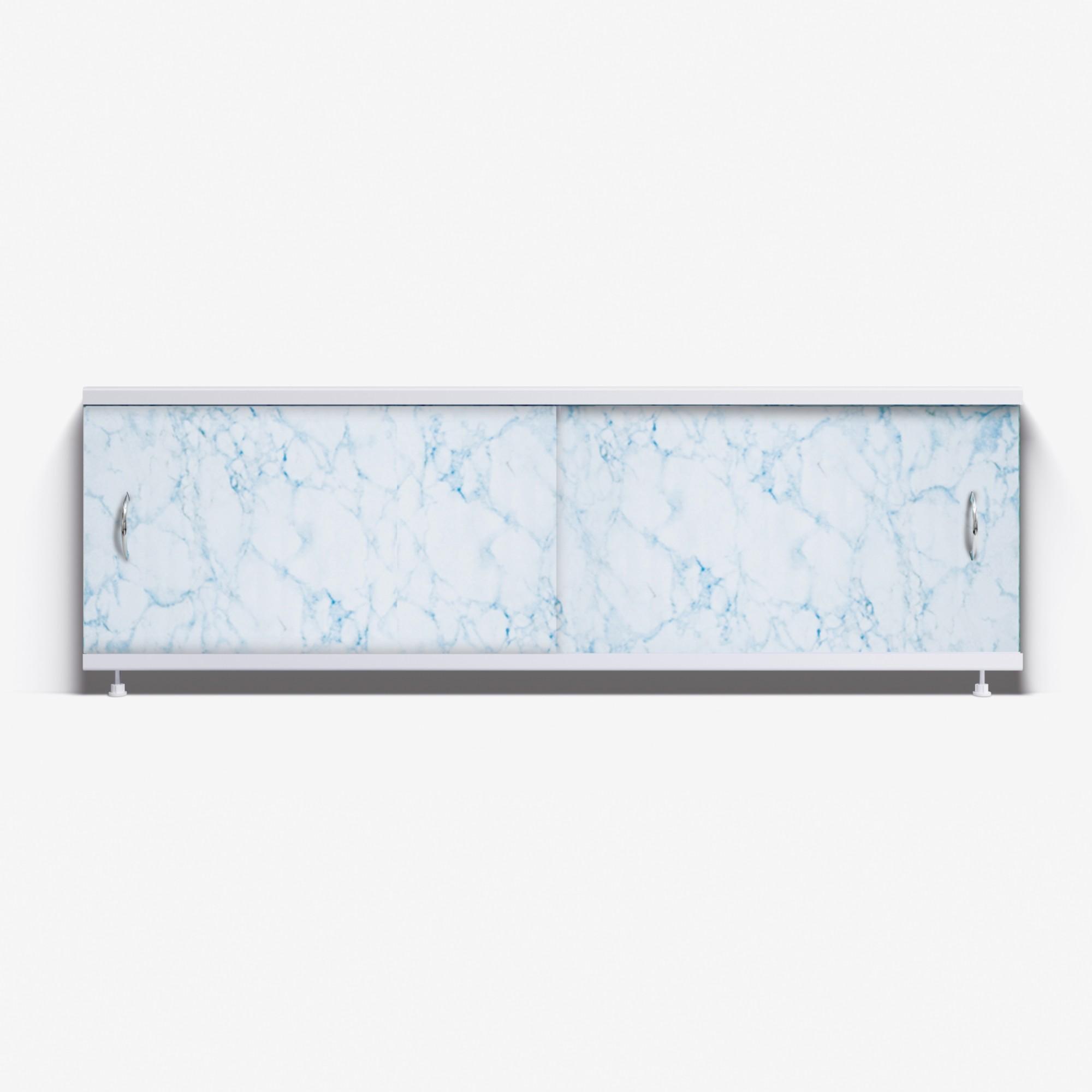 Экран под ванну Классик 170 бело-голубой мрамор