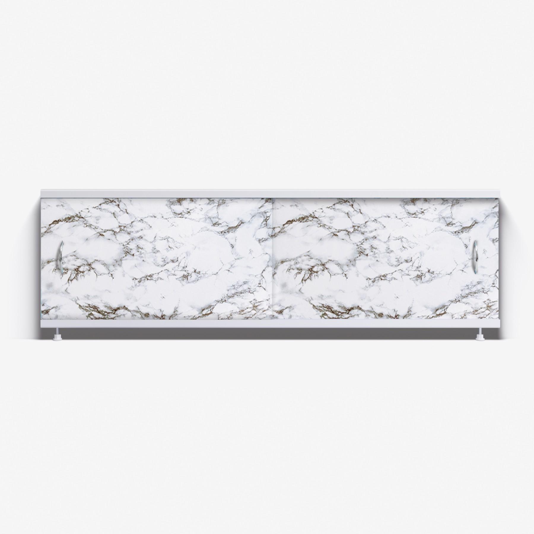 Экран под ванну Классик 150 черно-белый мрамор