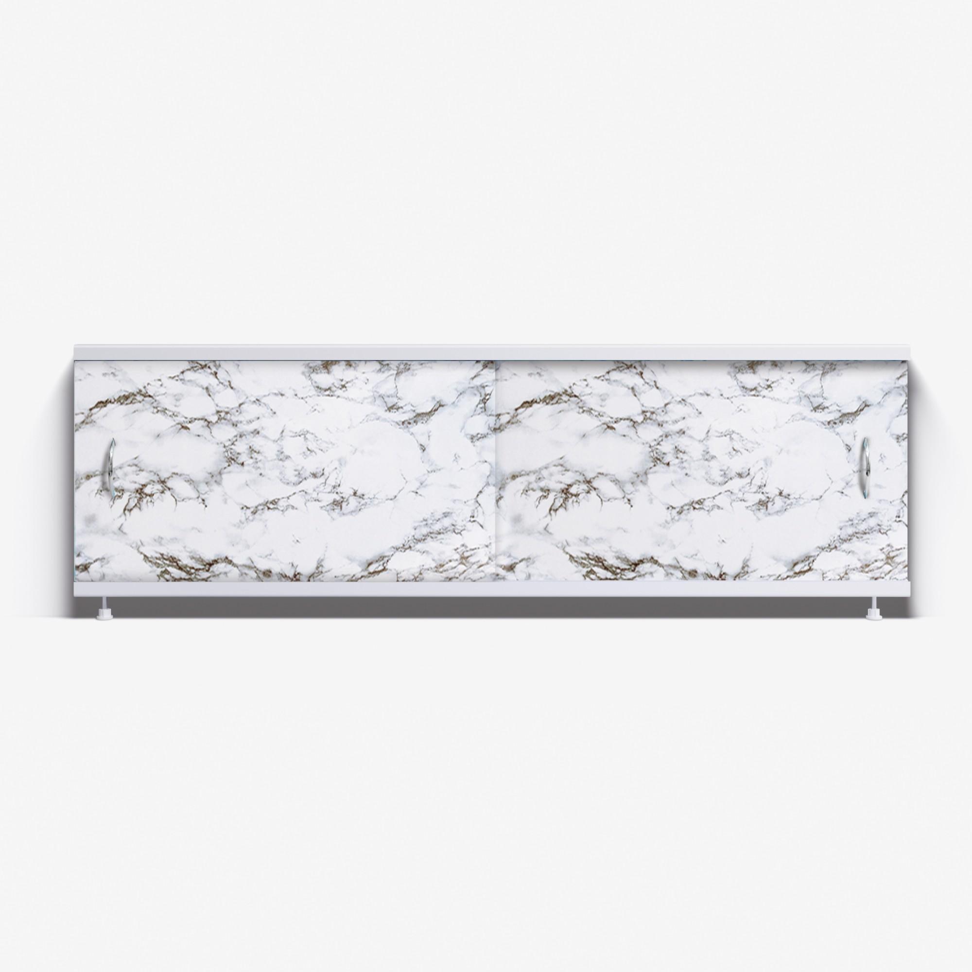 Экран под ванну Классик 170 черно-белый мрамор