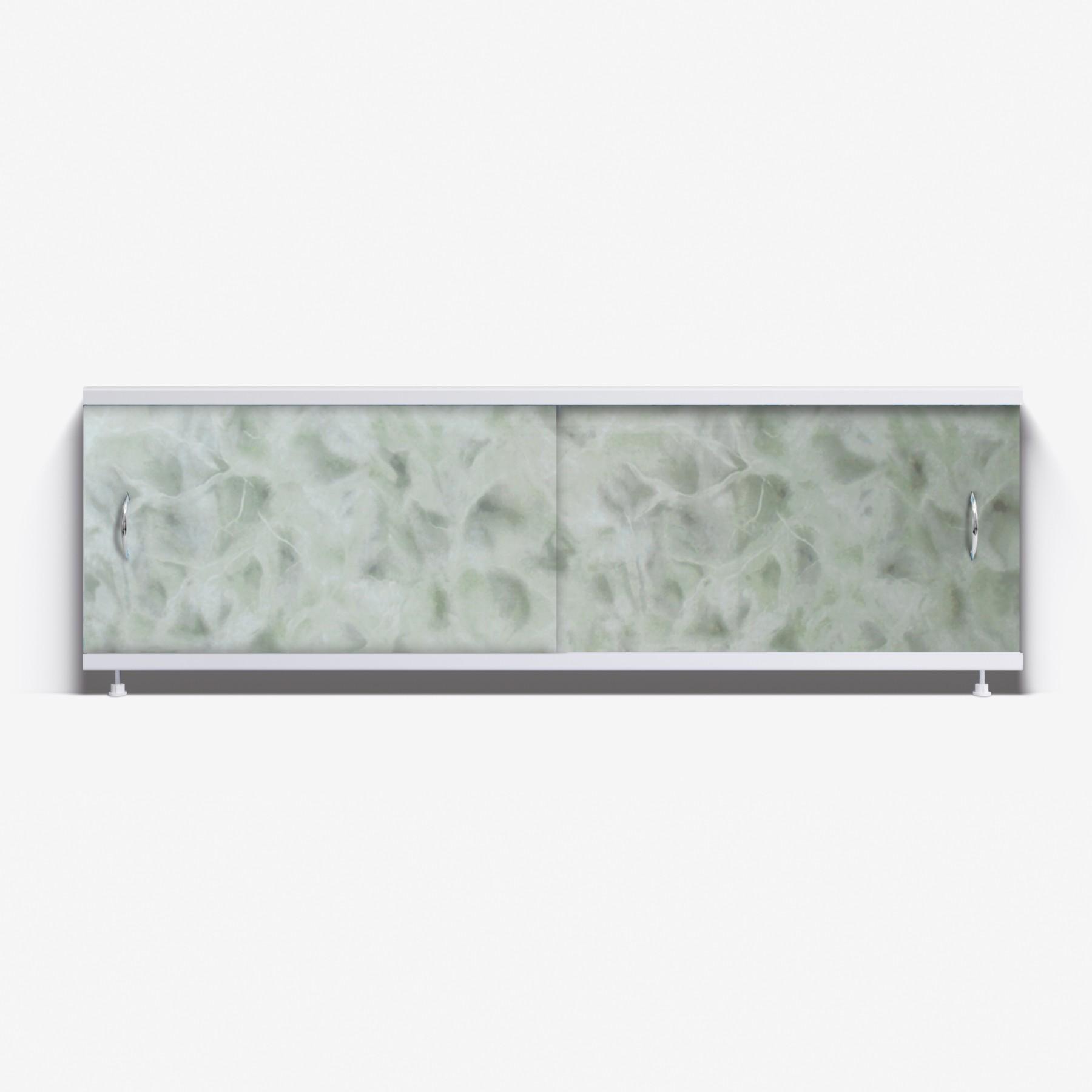 Экран под ванну Классик 150 светло-зеленый мрамор