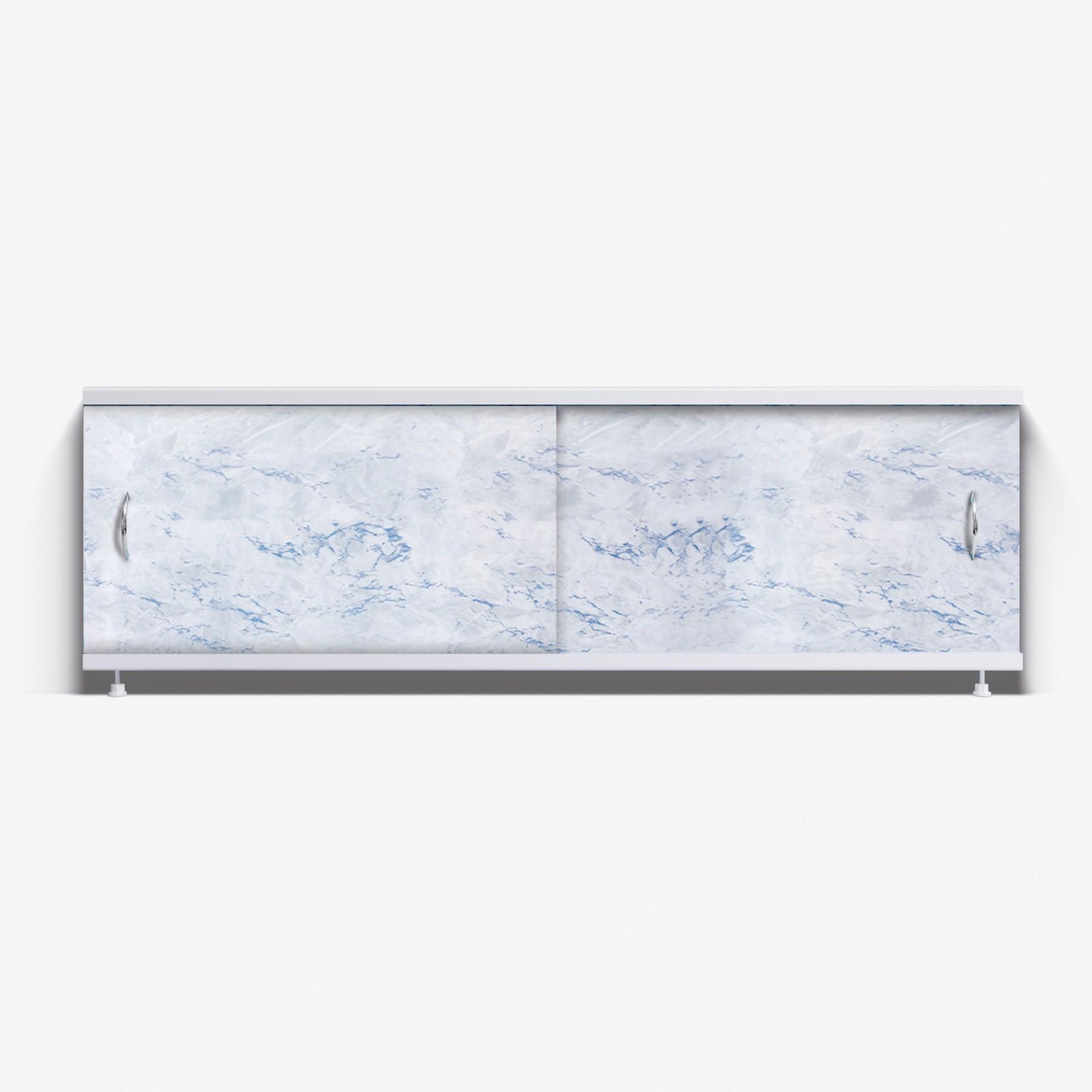 Экран под ванну Классик 170 серо-голубой мрамор