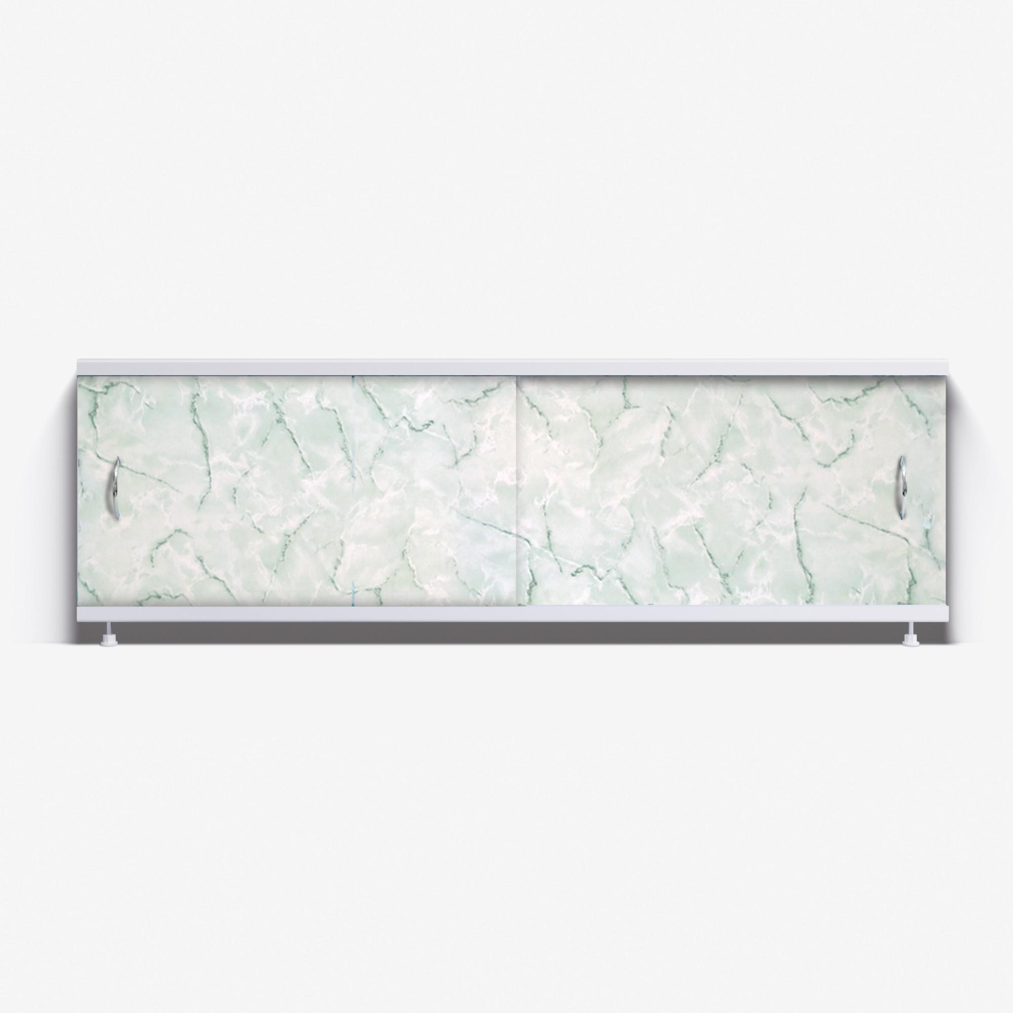 Экран под ванну Классик 150 зеленый мрамор