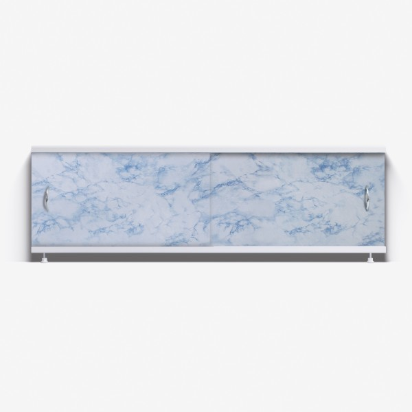 Экран под ванну Классик 150 серо-синий мрамор