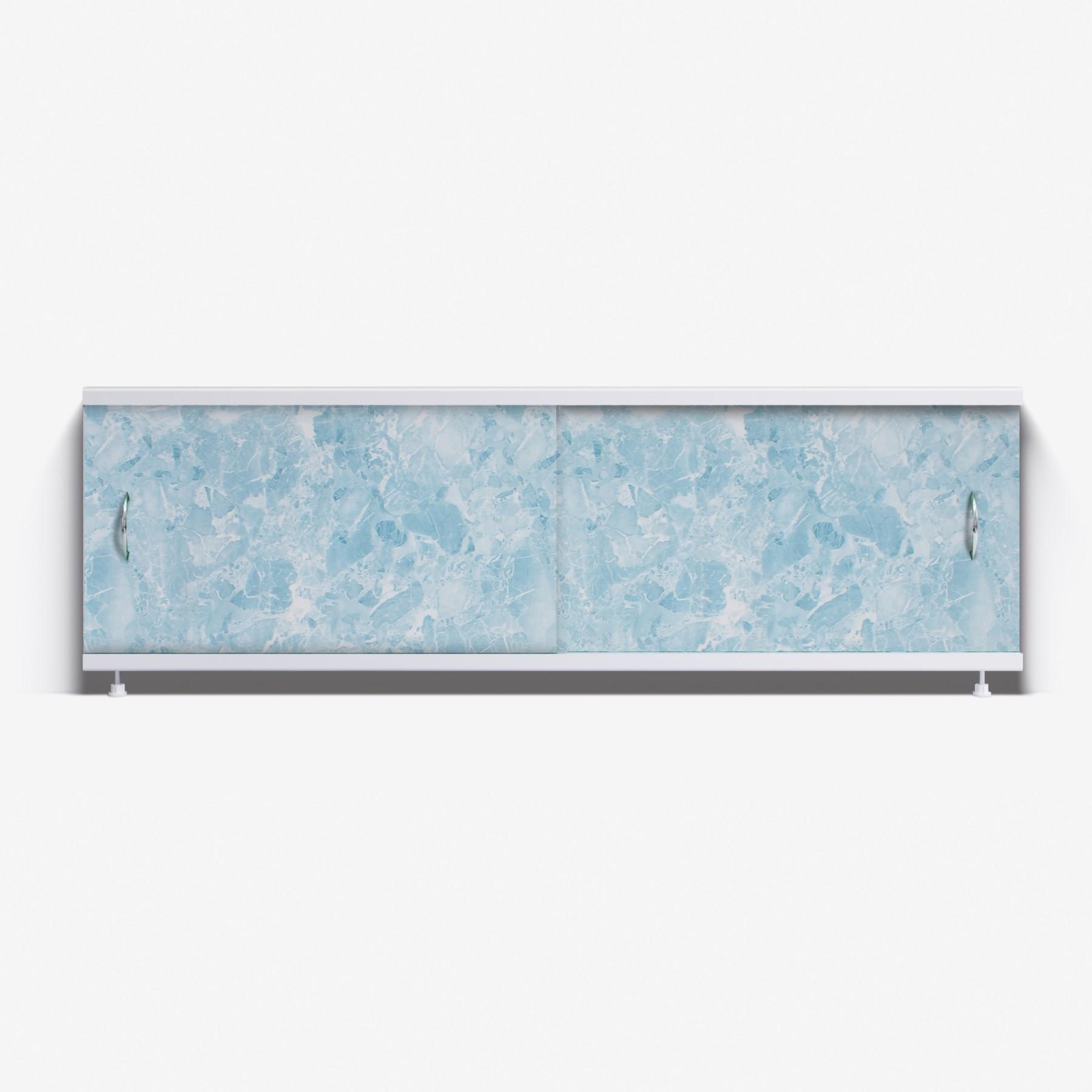 Экран под ванну Классик 150 светло-синий мрамор