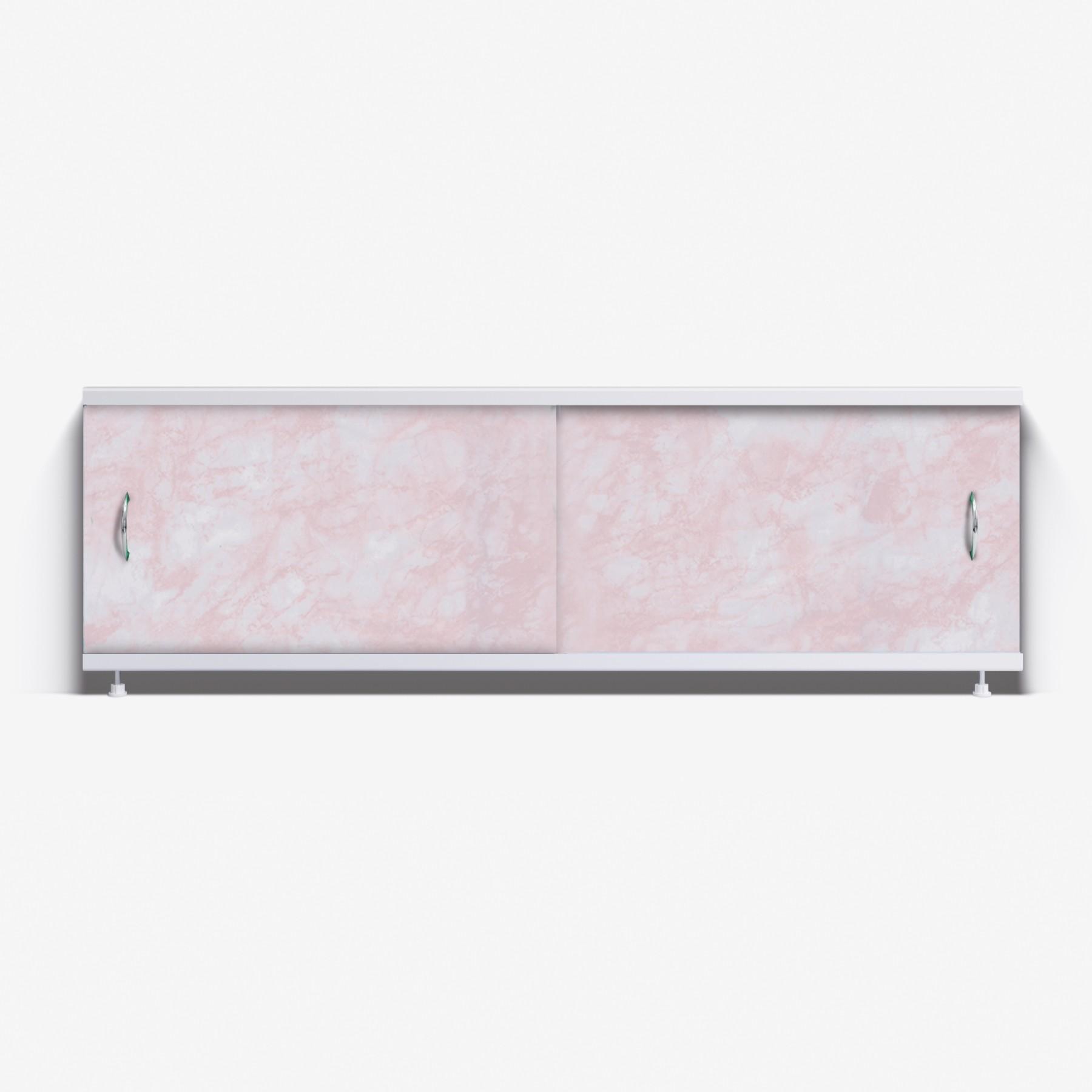 Экран под ванну Классик 170 розовый глянец