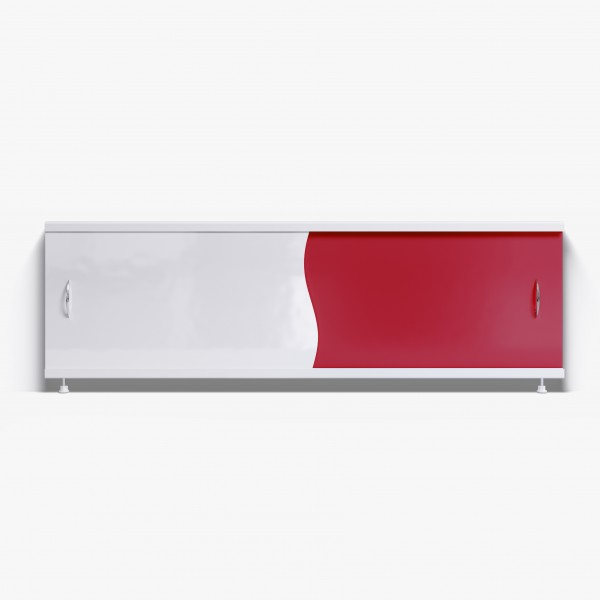 Экран под ванну Комби 170 красный