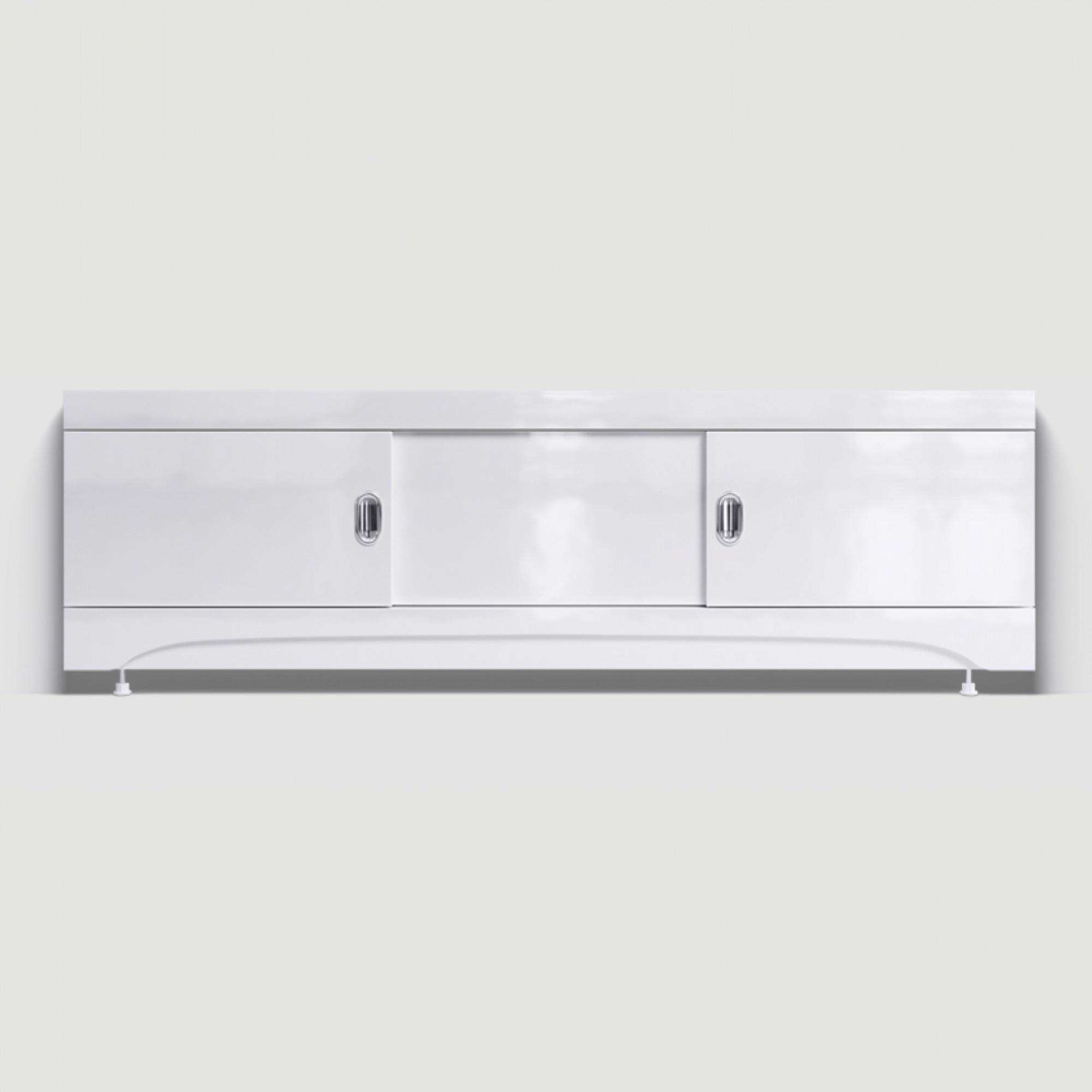 Экран под ванну раздвижной (купе) 160 см МДФ белый