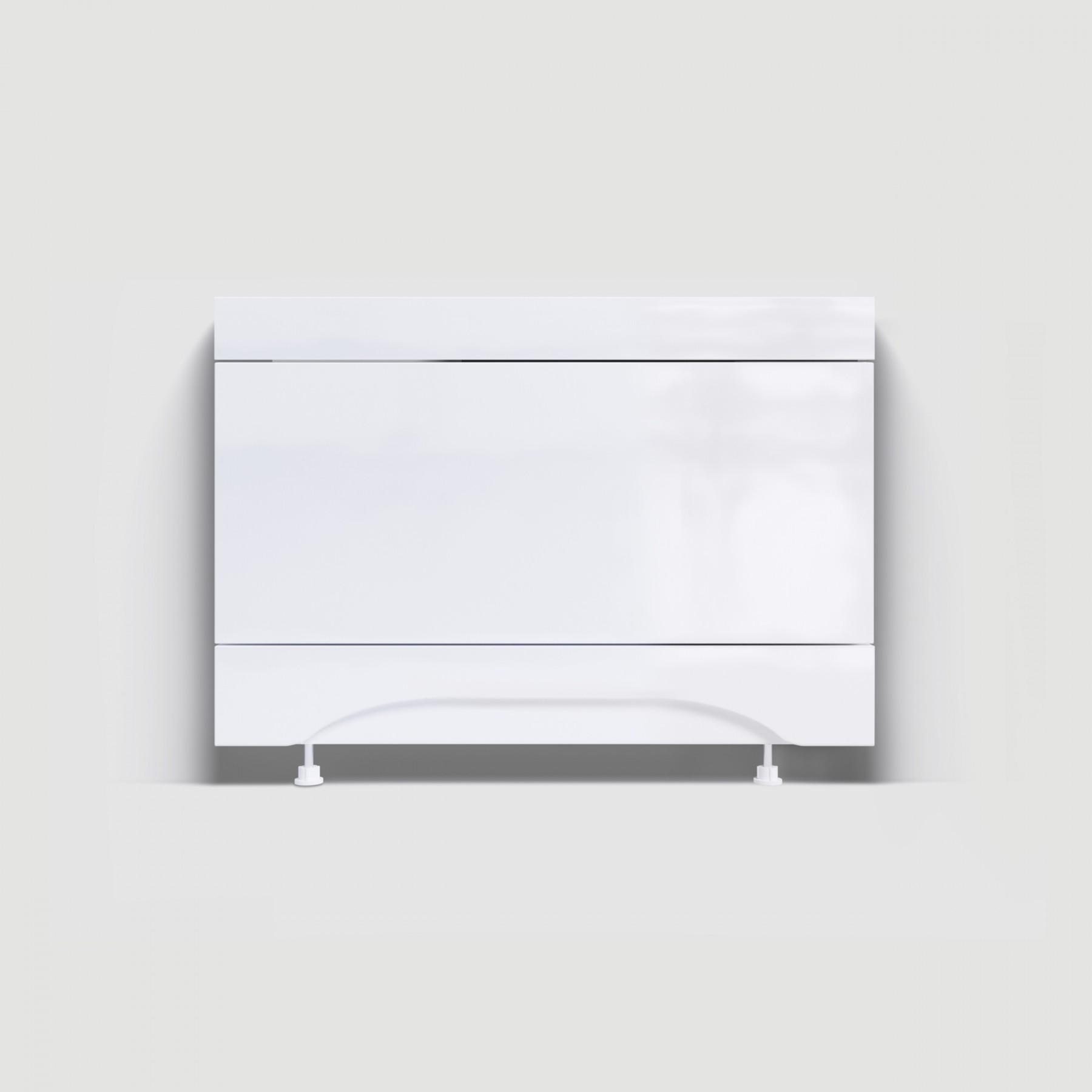 Экран под ванну торцевой 75 см мдф белый