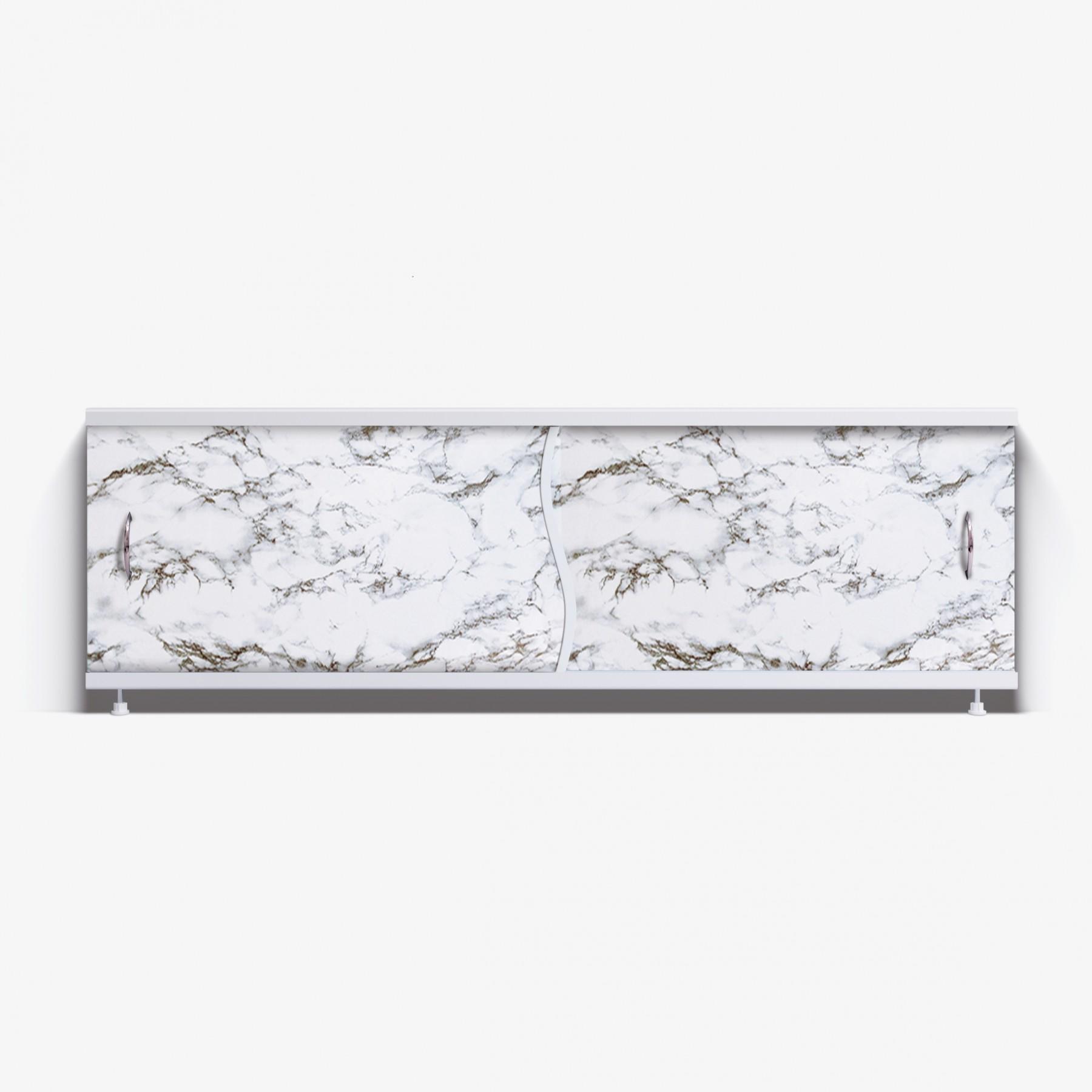 Экран под ванну Премьер 150 черно-белый мрамор