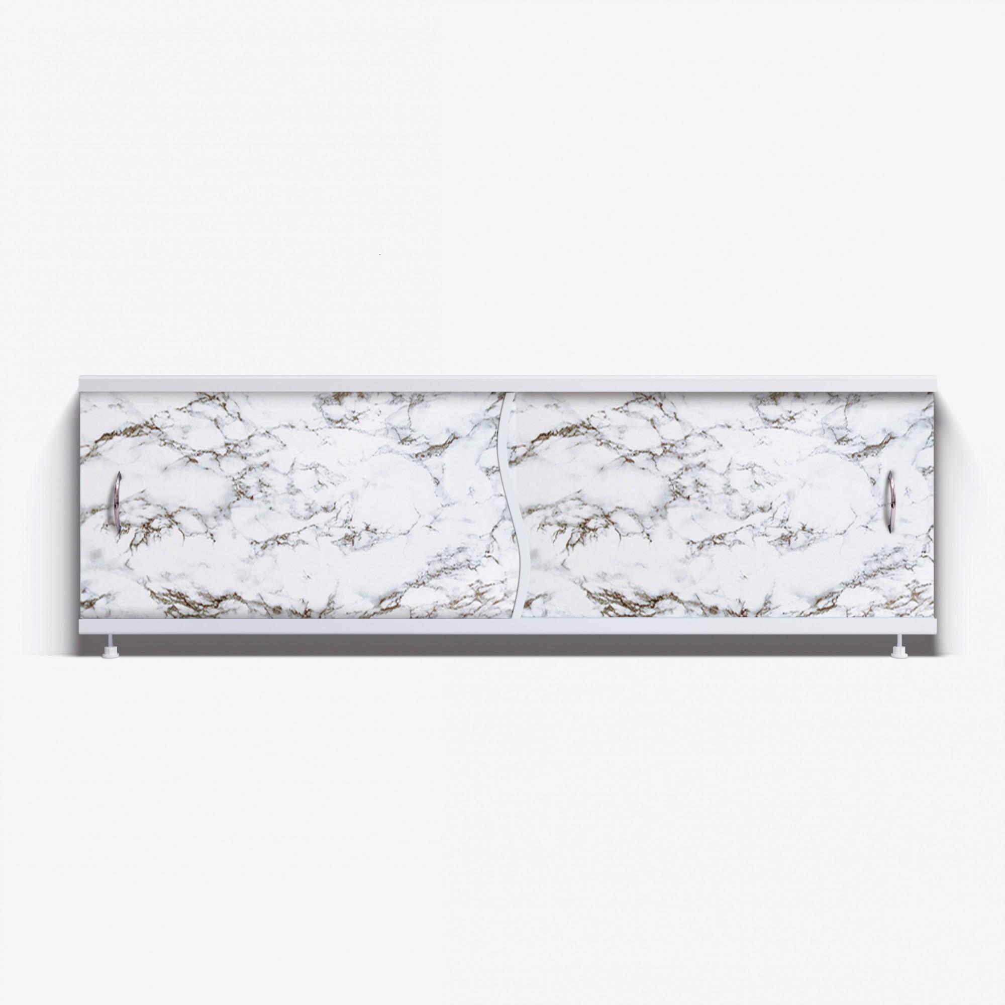 Экран под ванну Премьер 170 черно-белый мрамор