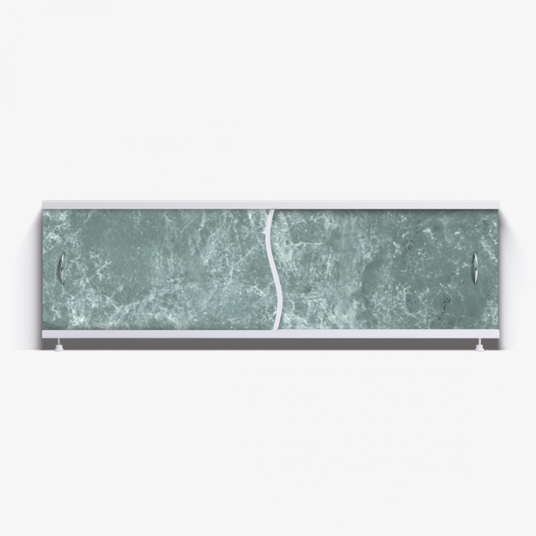 Экран под ванну Премьер 170 темно-зеленый мрамор