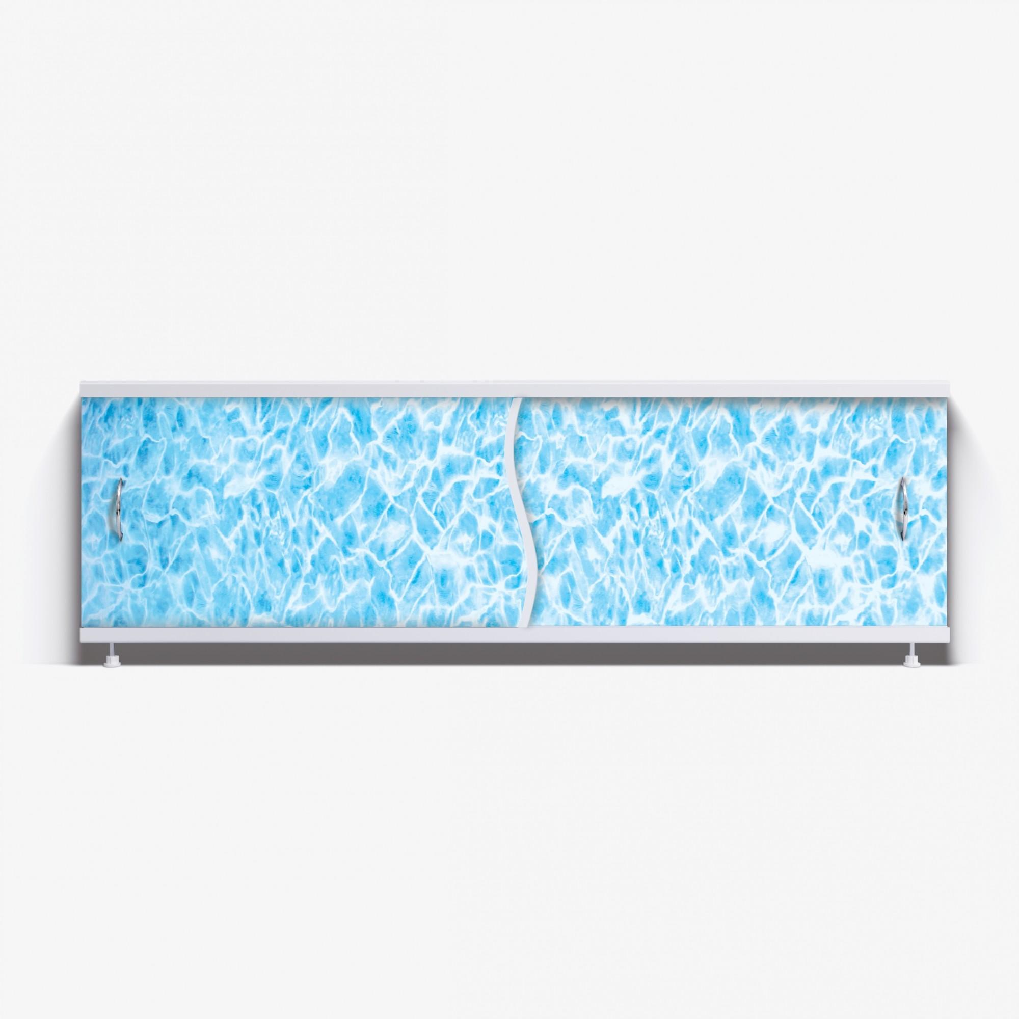 Экран под ванну Премьер 150 синий мрамор