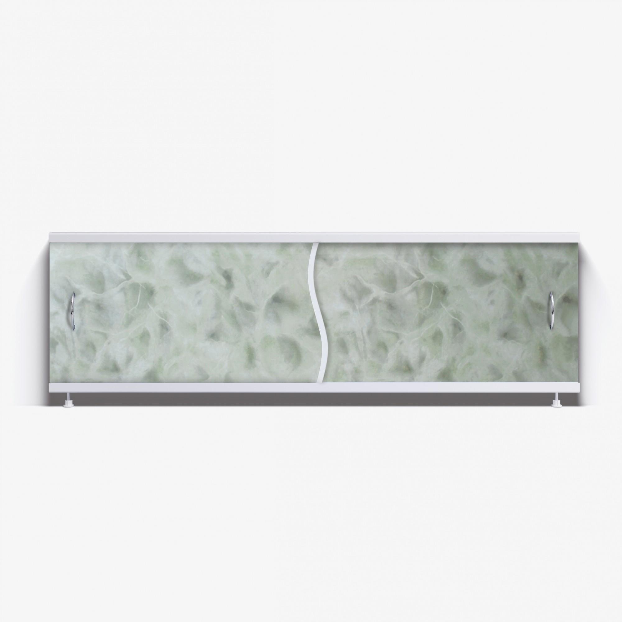 Экран под ванну Премьер 170 светло-зеленый мрамор