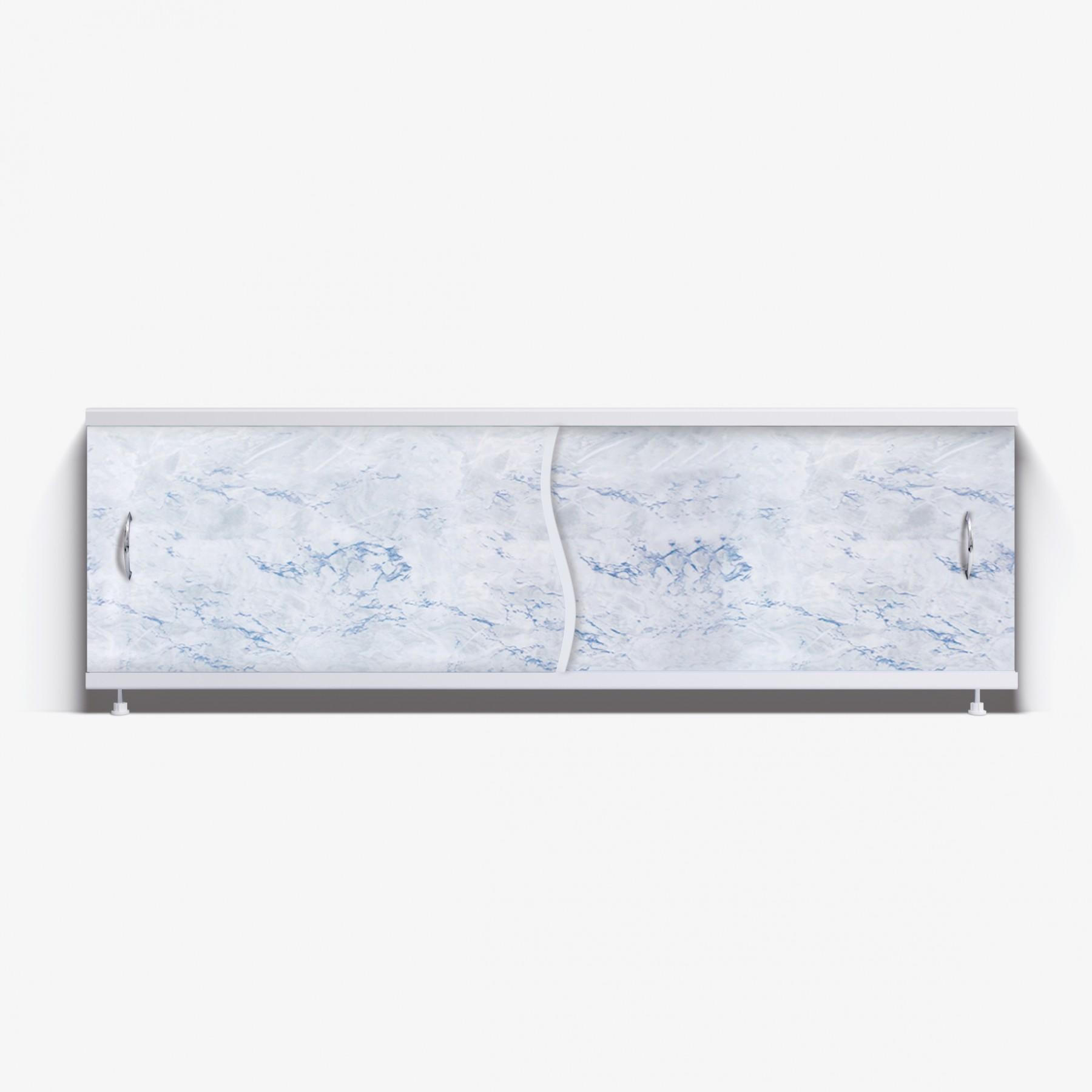 Экран под ванну Премьер 150 серо-голубой мрамор