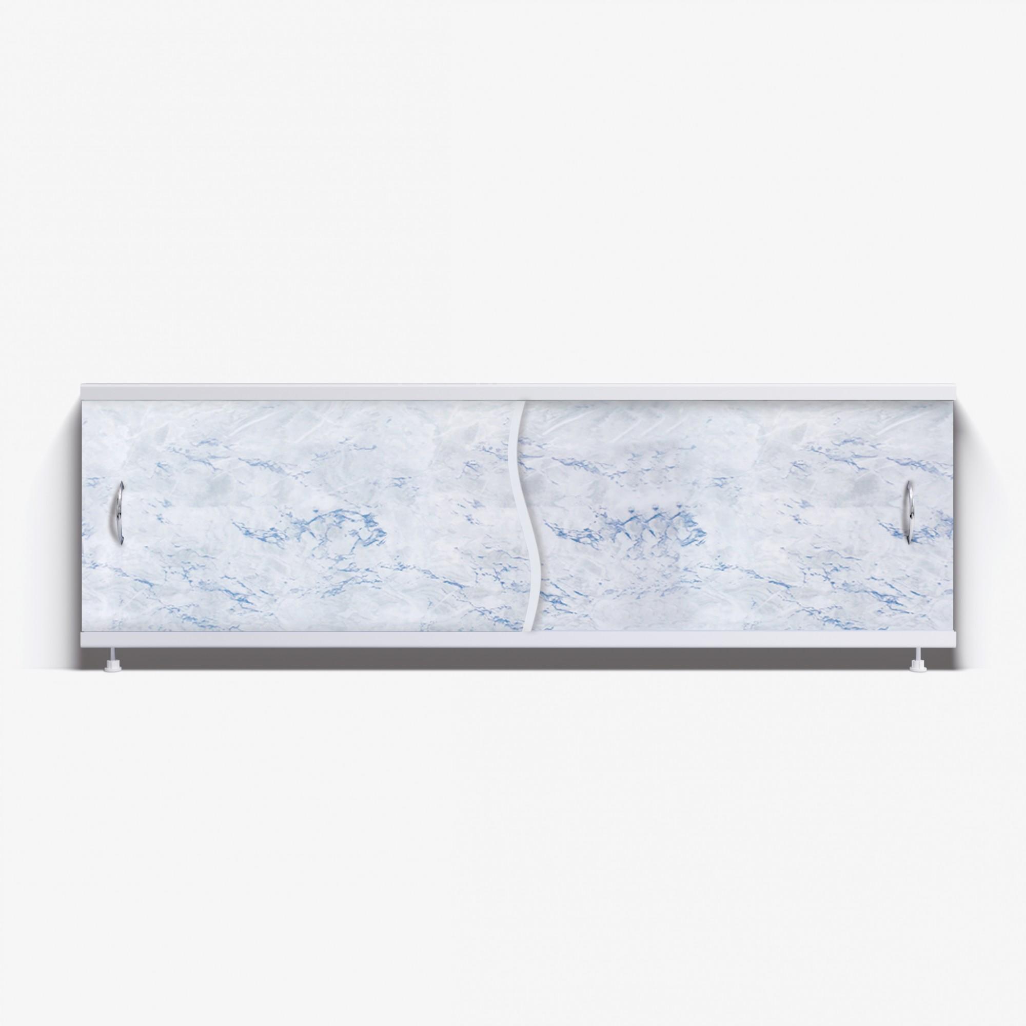Экран под ванну Премьер 170 серо-голубой мрамор