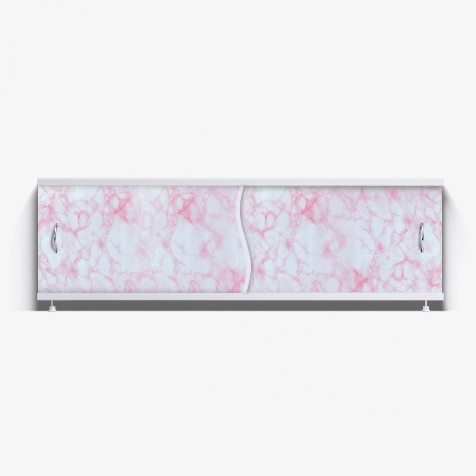 Экран под ванну Премьер 170 нежно-розовый мрамор