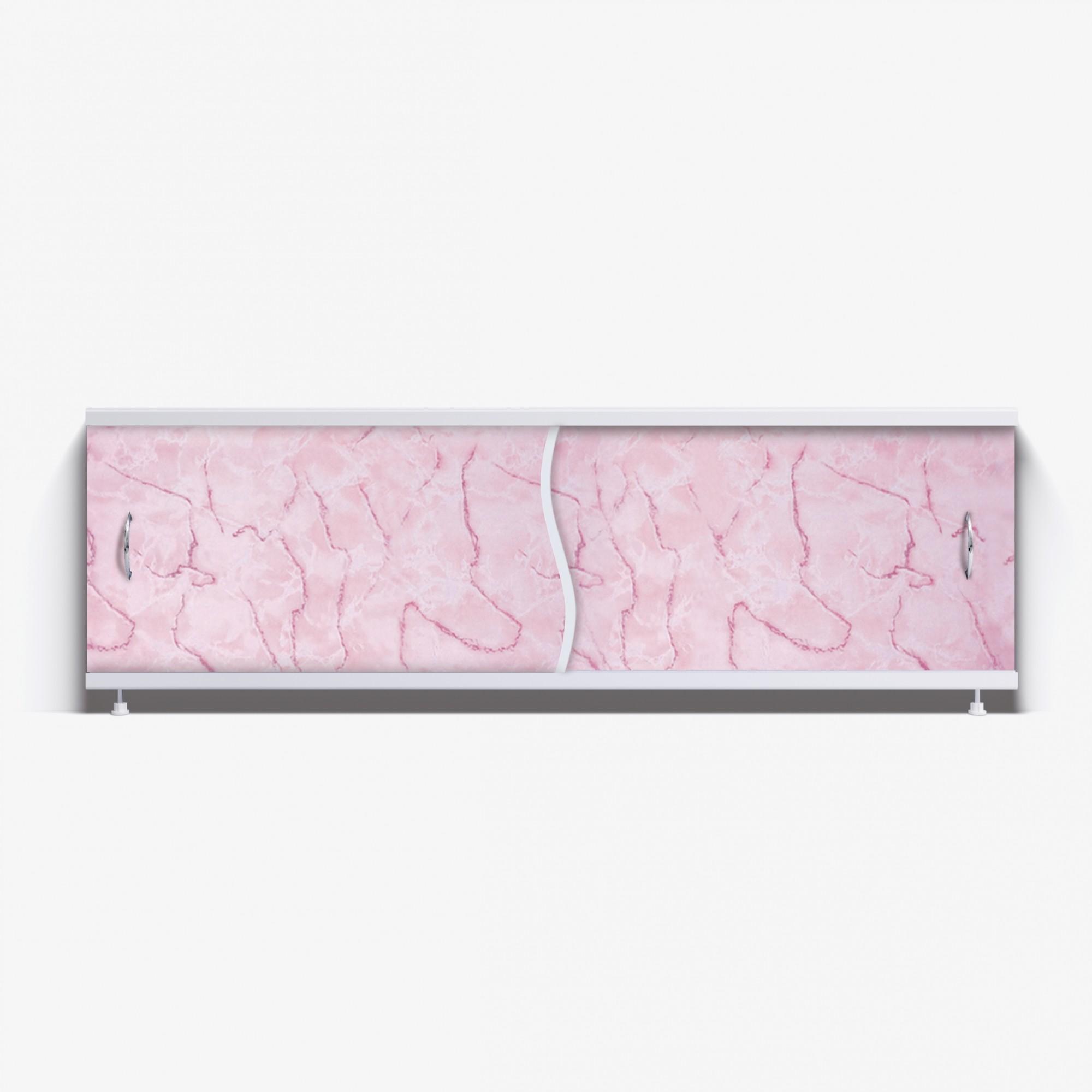 Экран под ванну Премьер 150 розовый мрамор