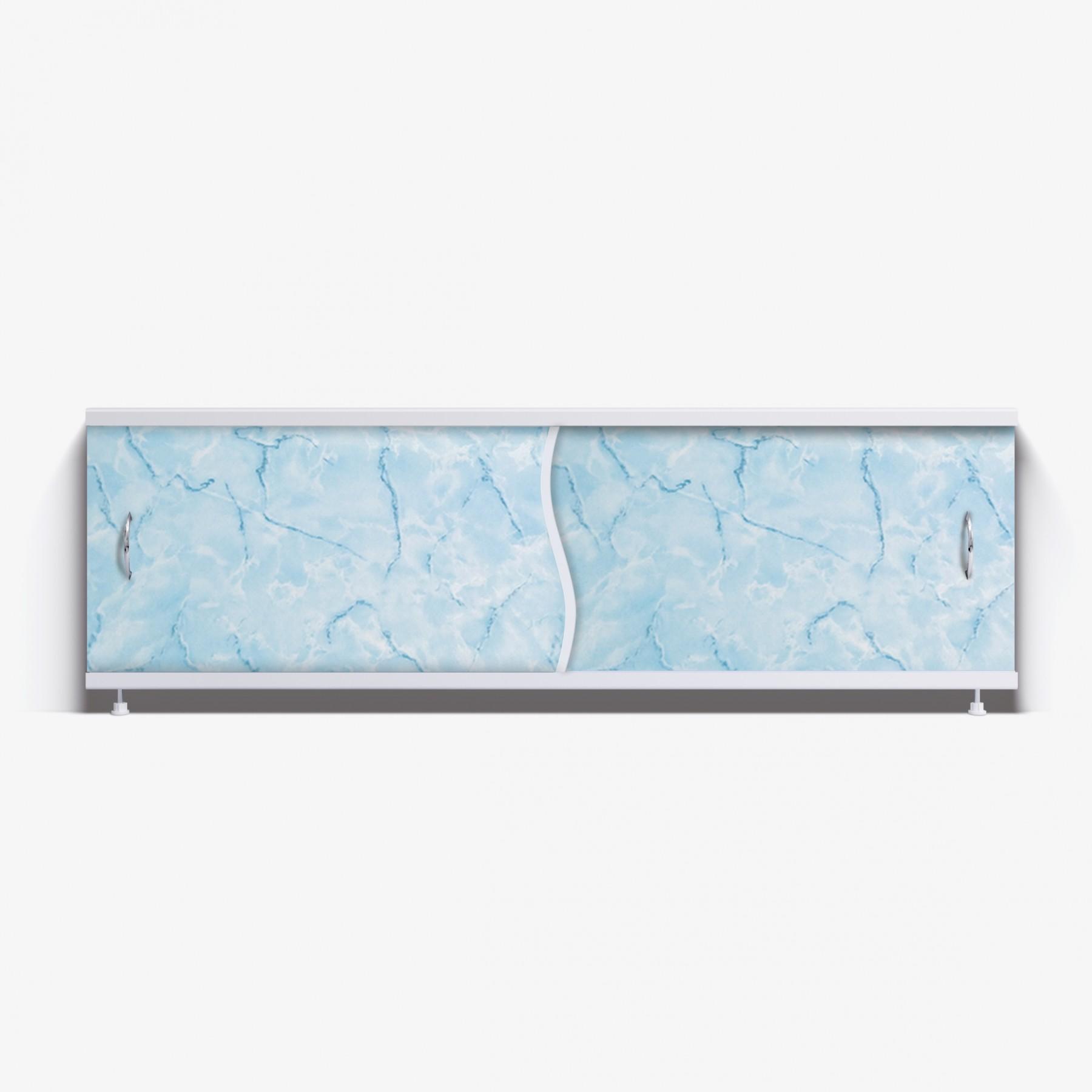 Экран под ванну Премьер 170 голубой мрамор