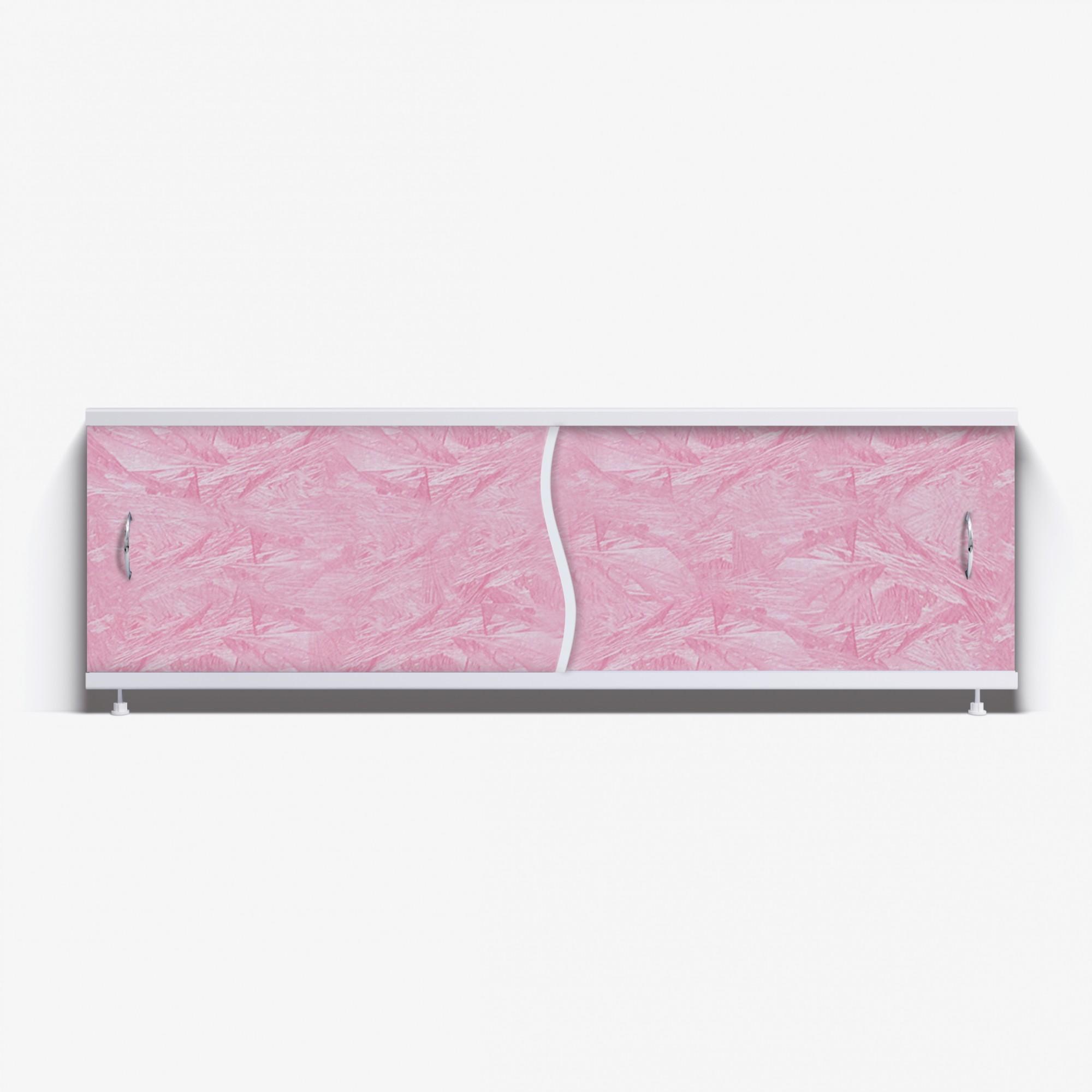 Экран под ванну Премьер 170 розовый мороз