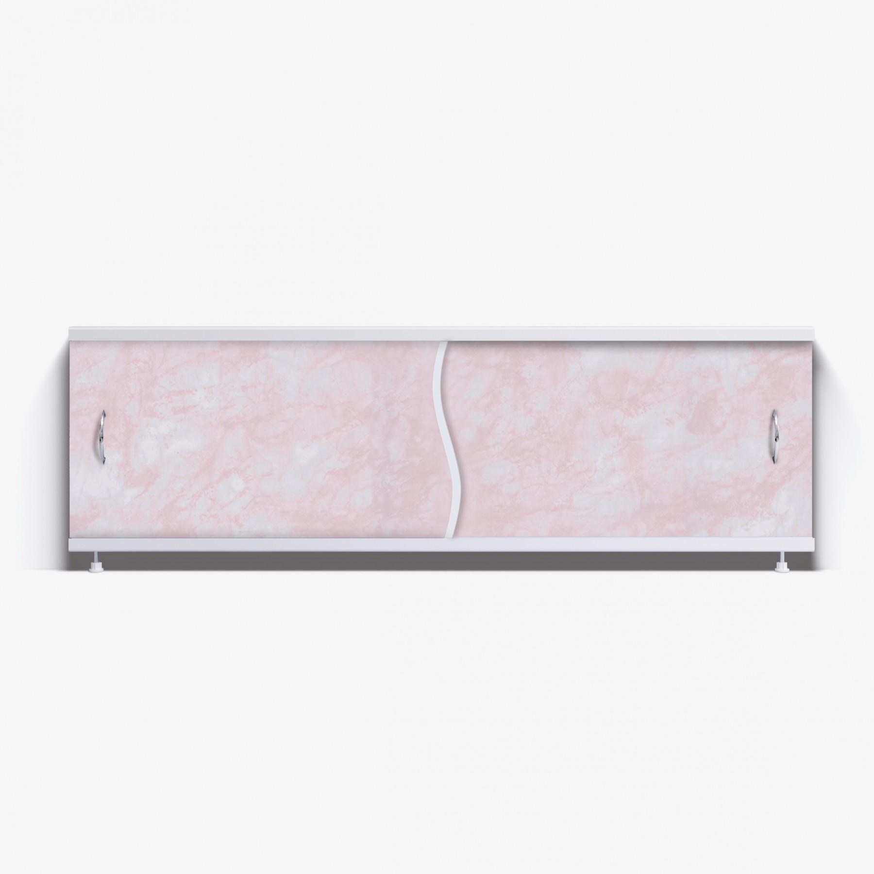 Экран под ванну Премьер 150  розовый глянец