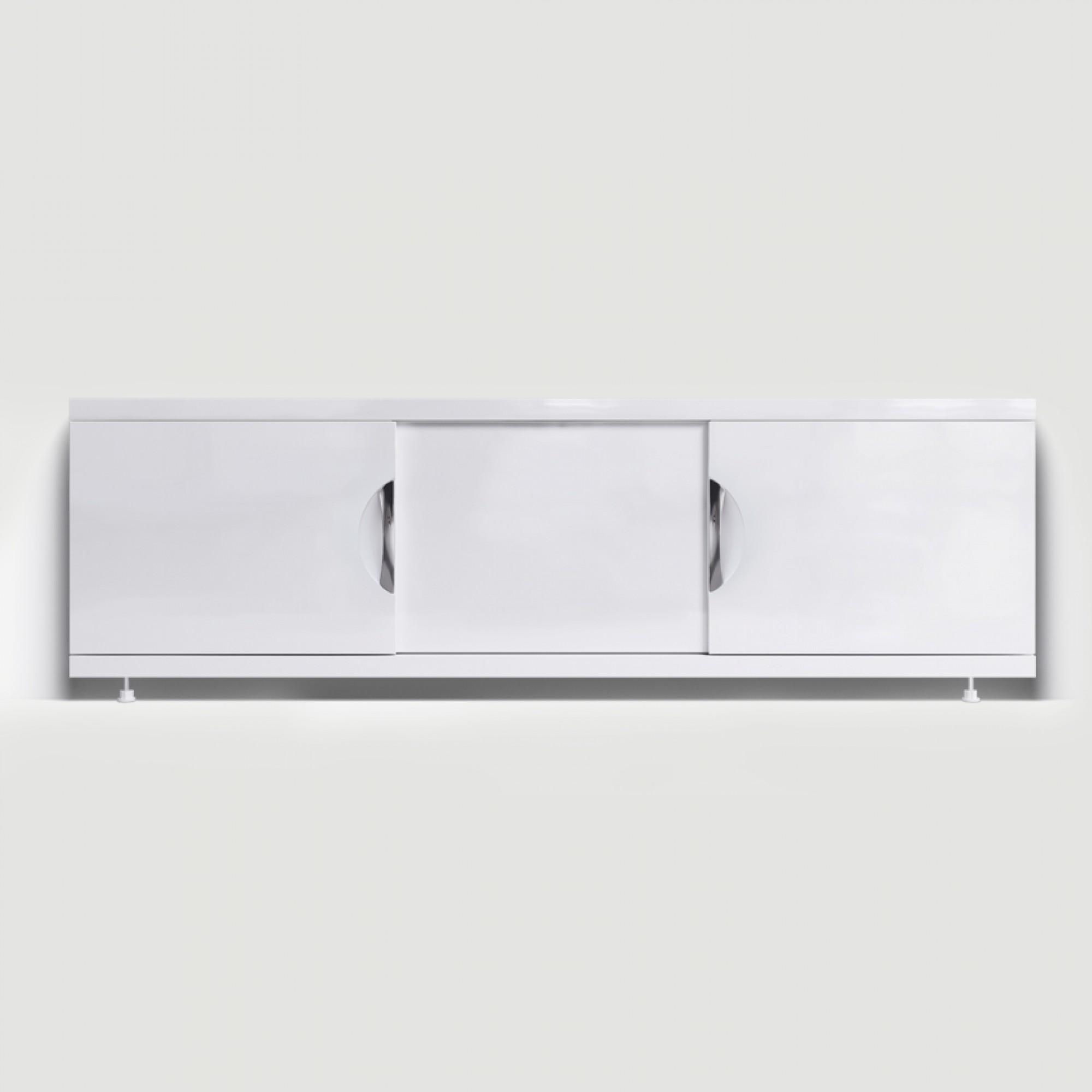 Экран под ванну раздвижной (купе) 170 см МДФ Monaco Still белый