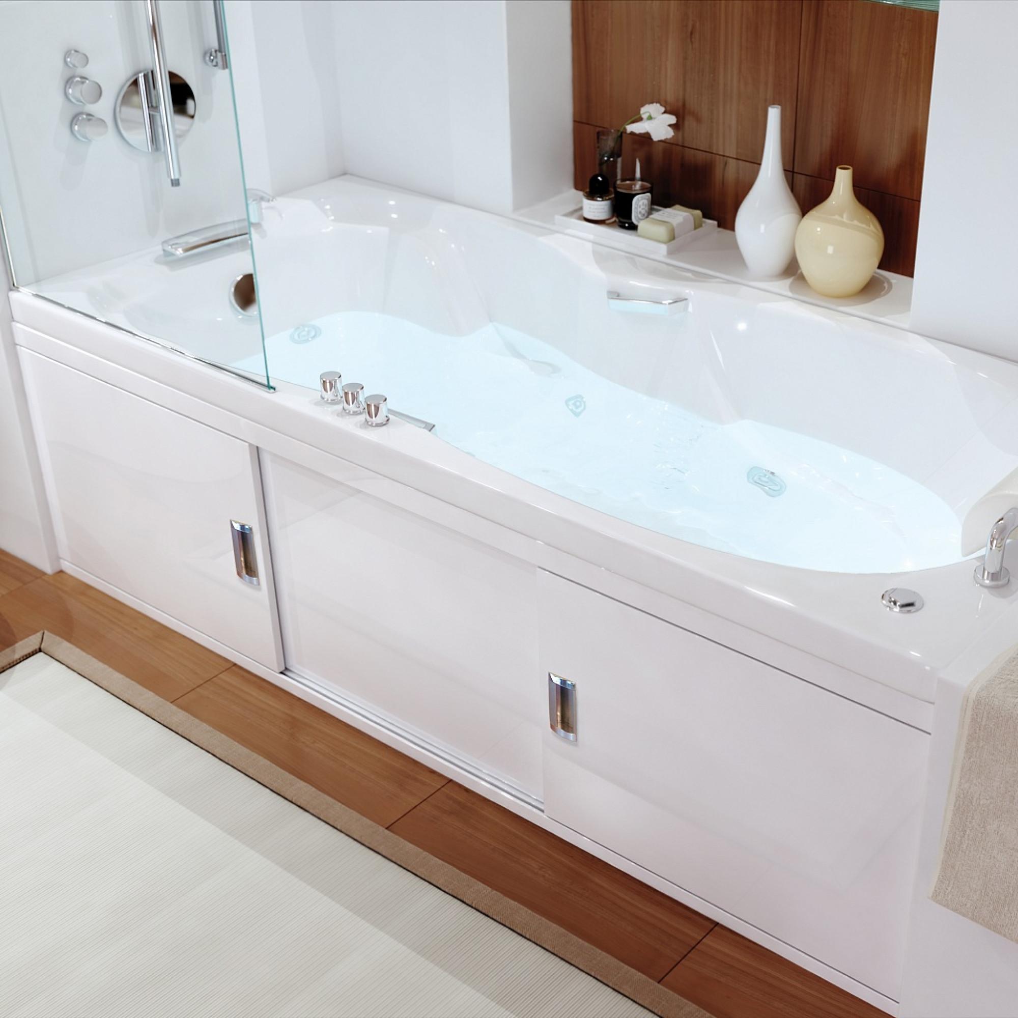 Экран под ванну раздвижной (купе) 150 см МДФ Still, цвет белый
