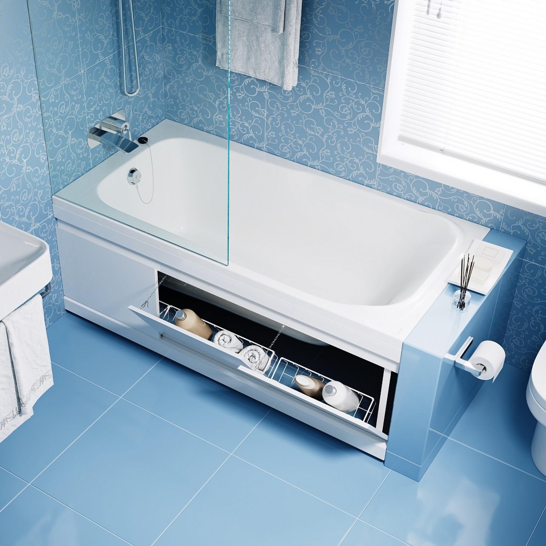 Экран под ванну откидной 150 см МДФ Soft, цвет венге