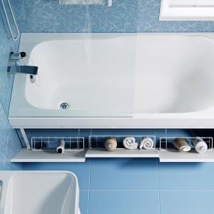 Экран под ванну МДФ Soft откидной 170 см белый