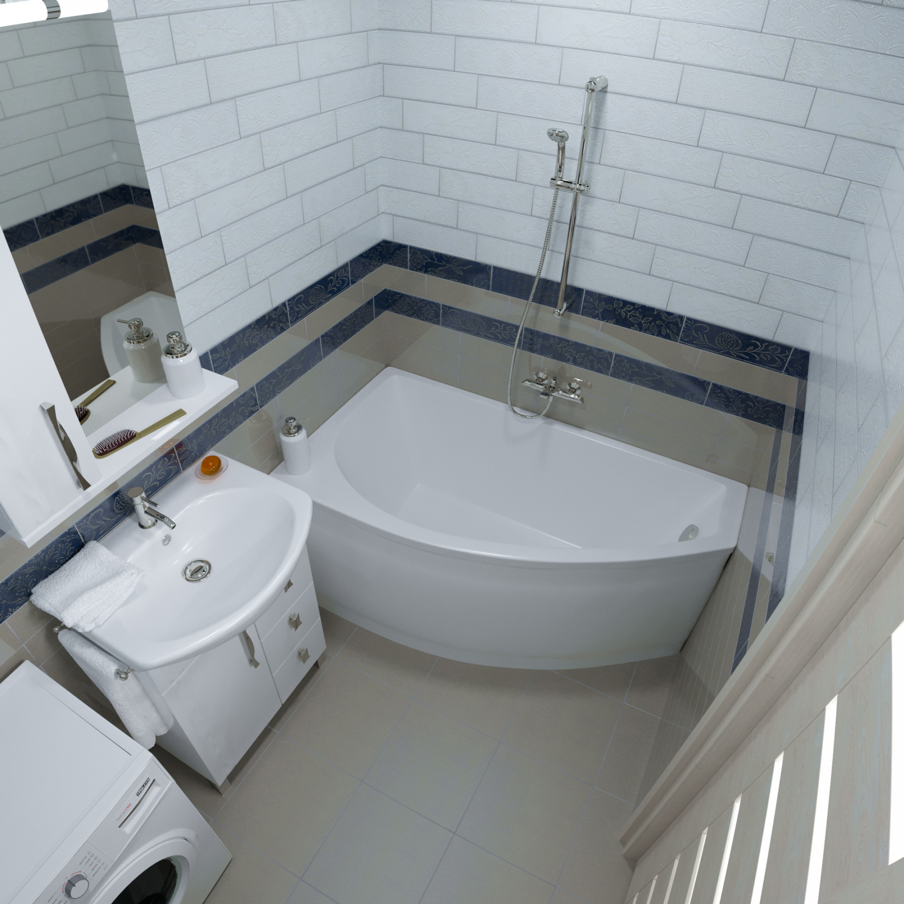 Акриловая ванна Тритон Белла 140x75 правая