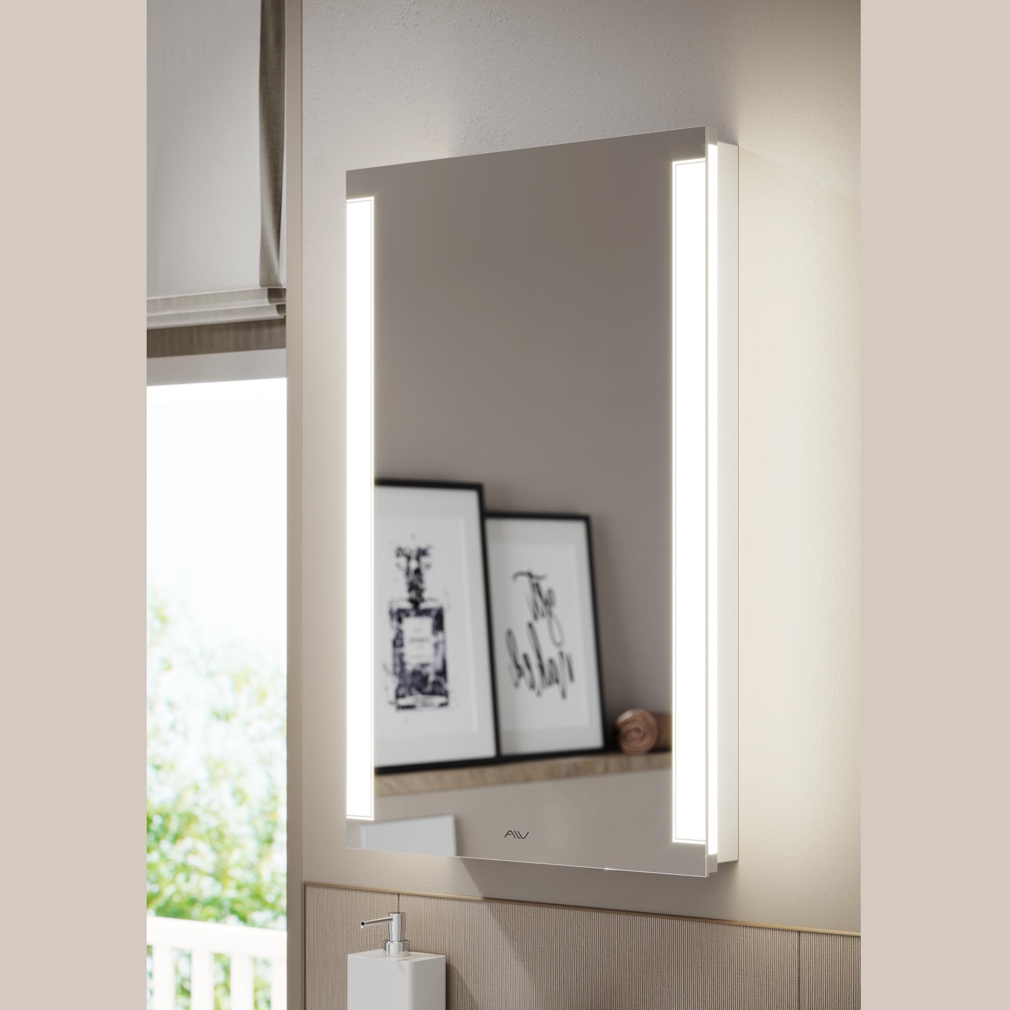 Шкаф зеркальный Dorn 50 белый