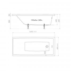 Акриловая ванна Triton Джена 170x70