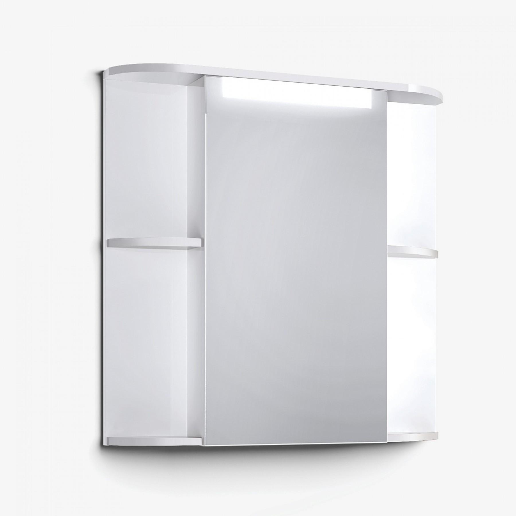 Шкаф зеркальный Latte 75 белый