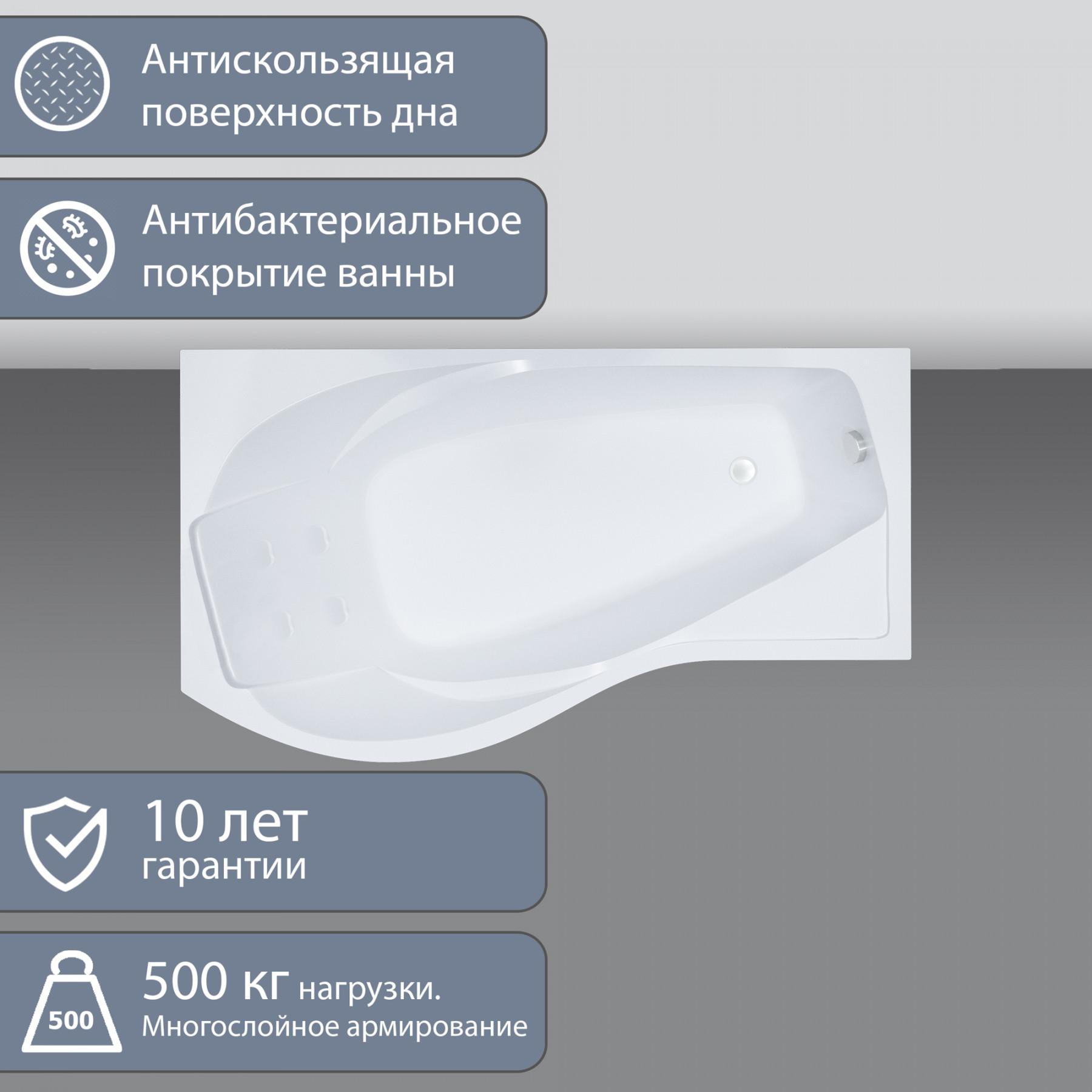 Акриловая ванна Triton Мишель 170x96 правая
