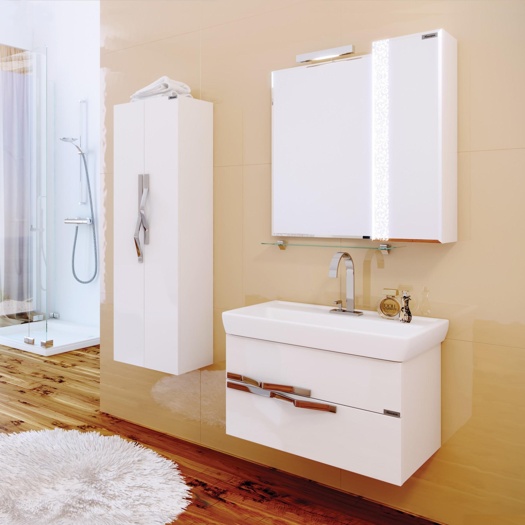 Зеркало-шкаф Delveto 70 белый