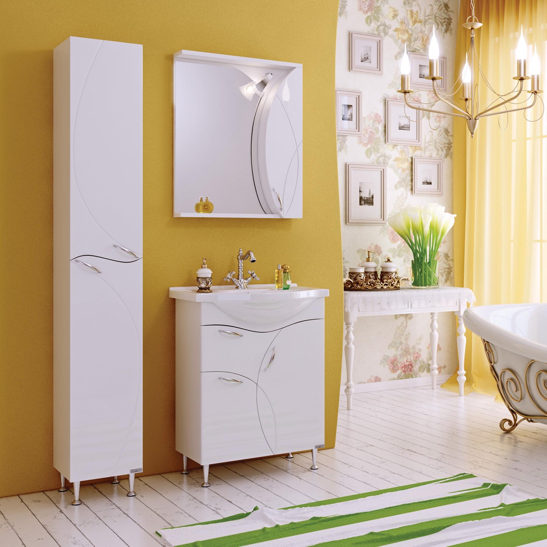 Зеркало-шкаф Флоранс 65 белый