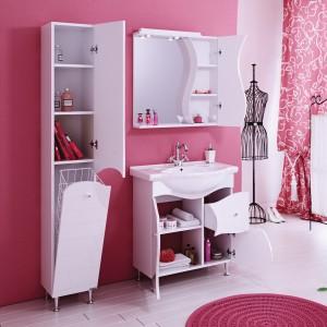 Зеркало-шкаф Катрин 75 белый