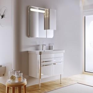 Зеркало-шкаф Largo 80 белый