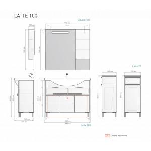 Гарнитур Latte 100 белый