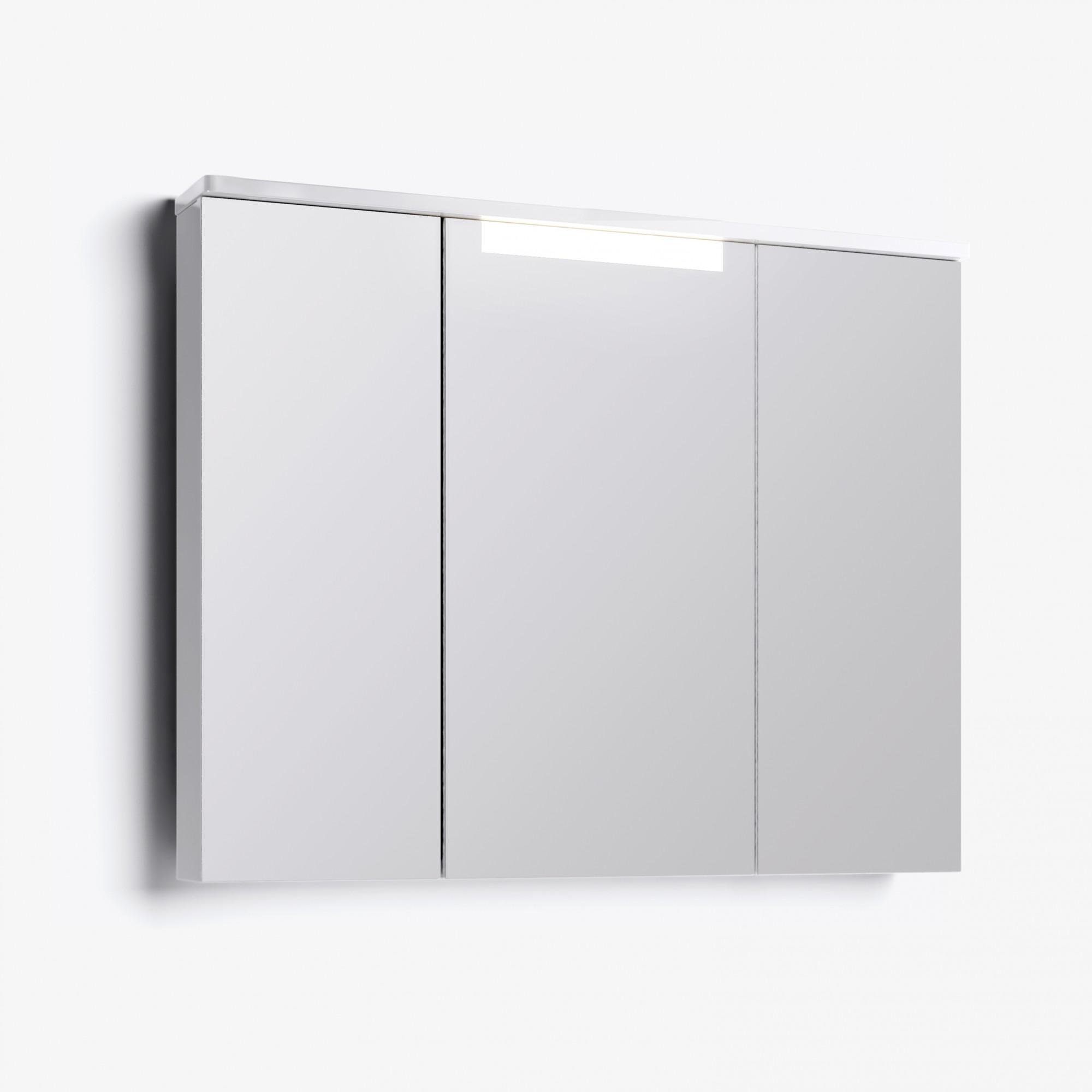 Шкаф зеркальный Лорен 100